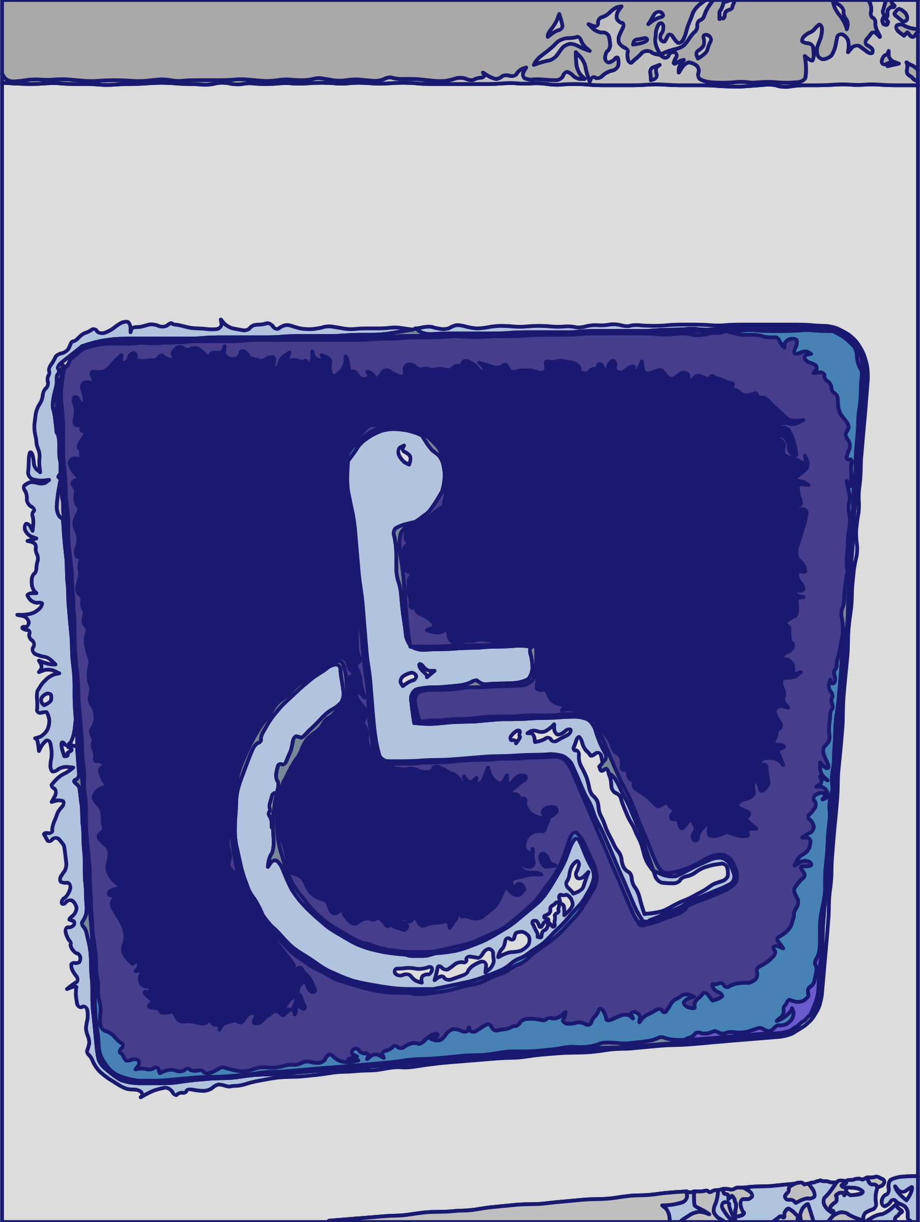 Funky Wheelchair Symbol by j4p4n