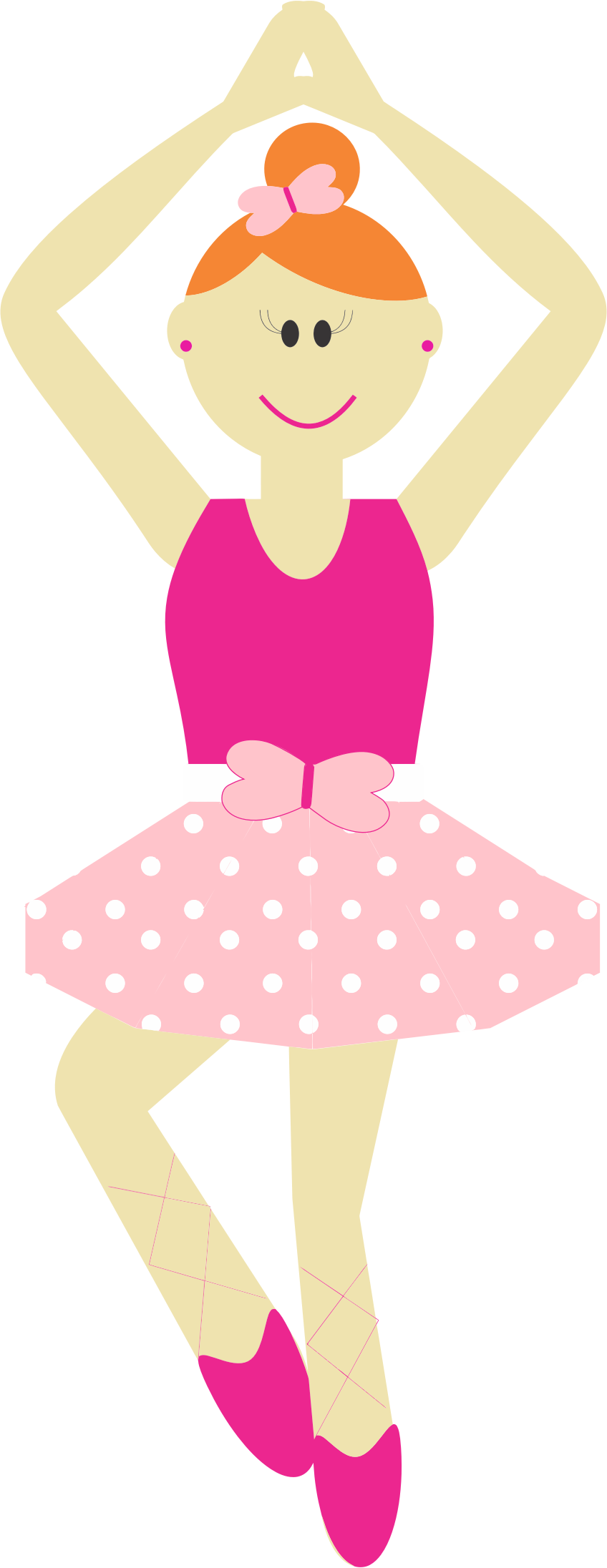 Cute Cartoon Ballerina by GDJ