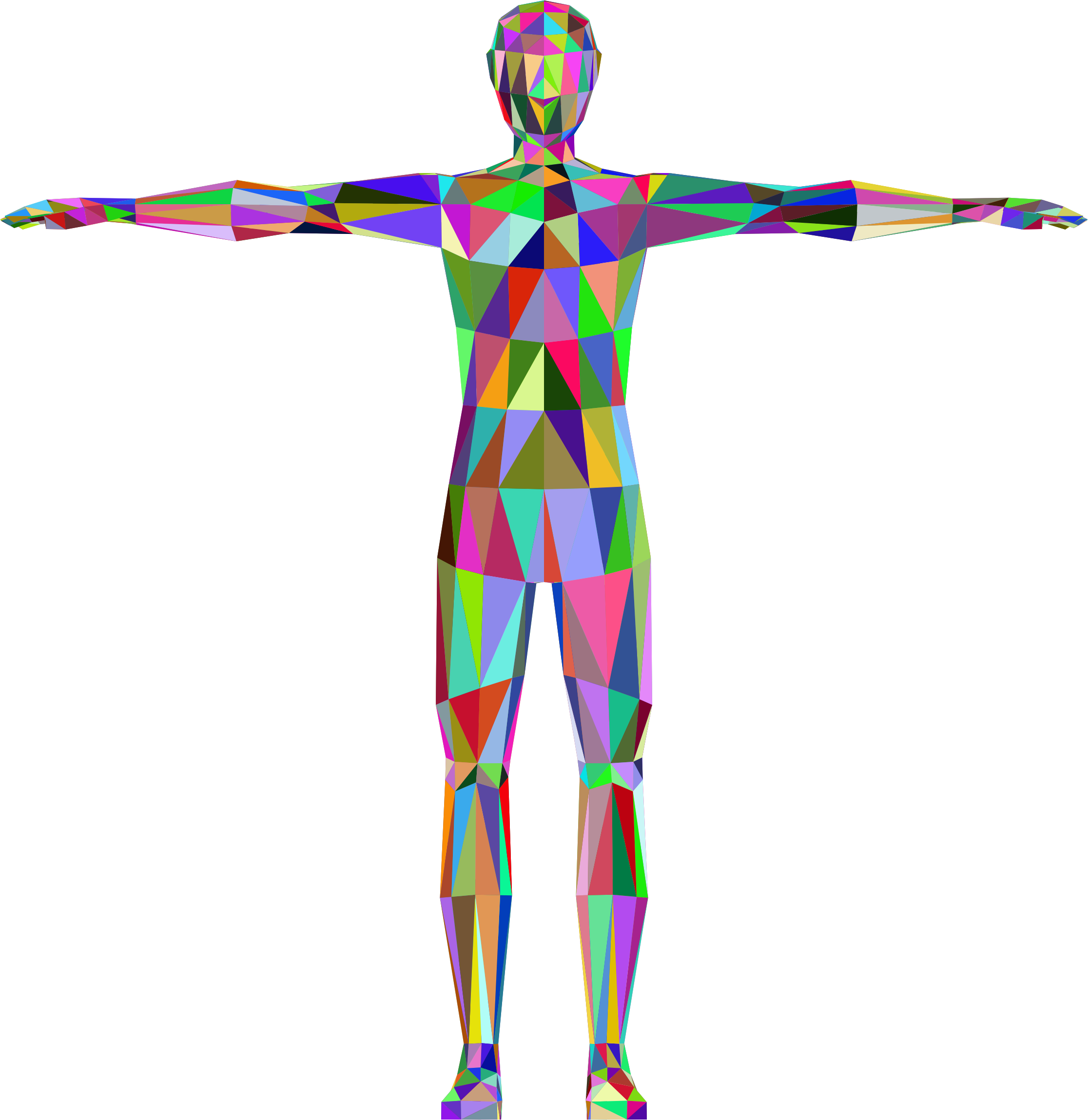 Clipart - Prismatic Low Poly Human Male