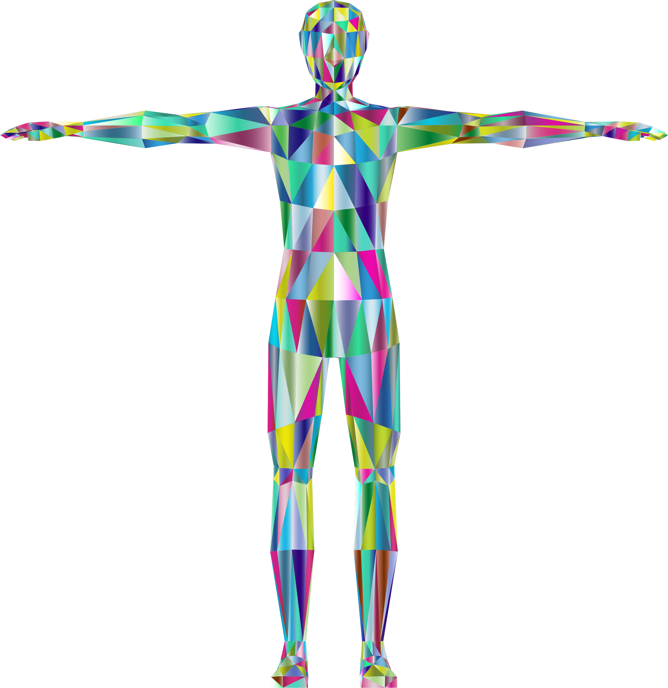 Prismatic Low Poly Human Male Variation 2 by GDJ