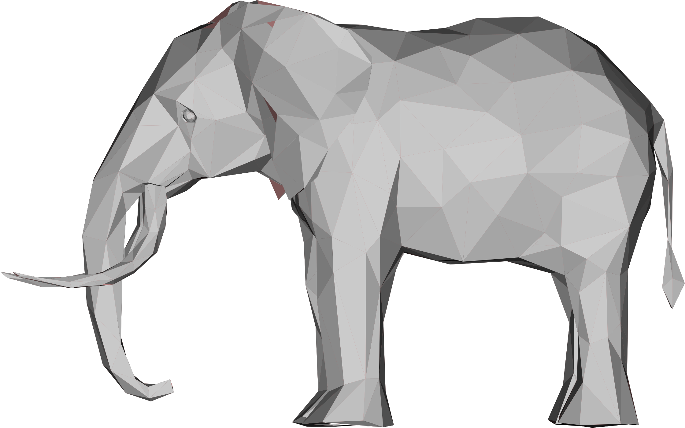 Clipart Low Poly 3d Elephant