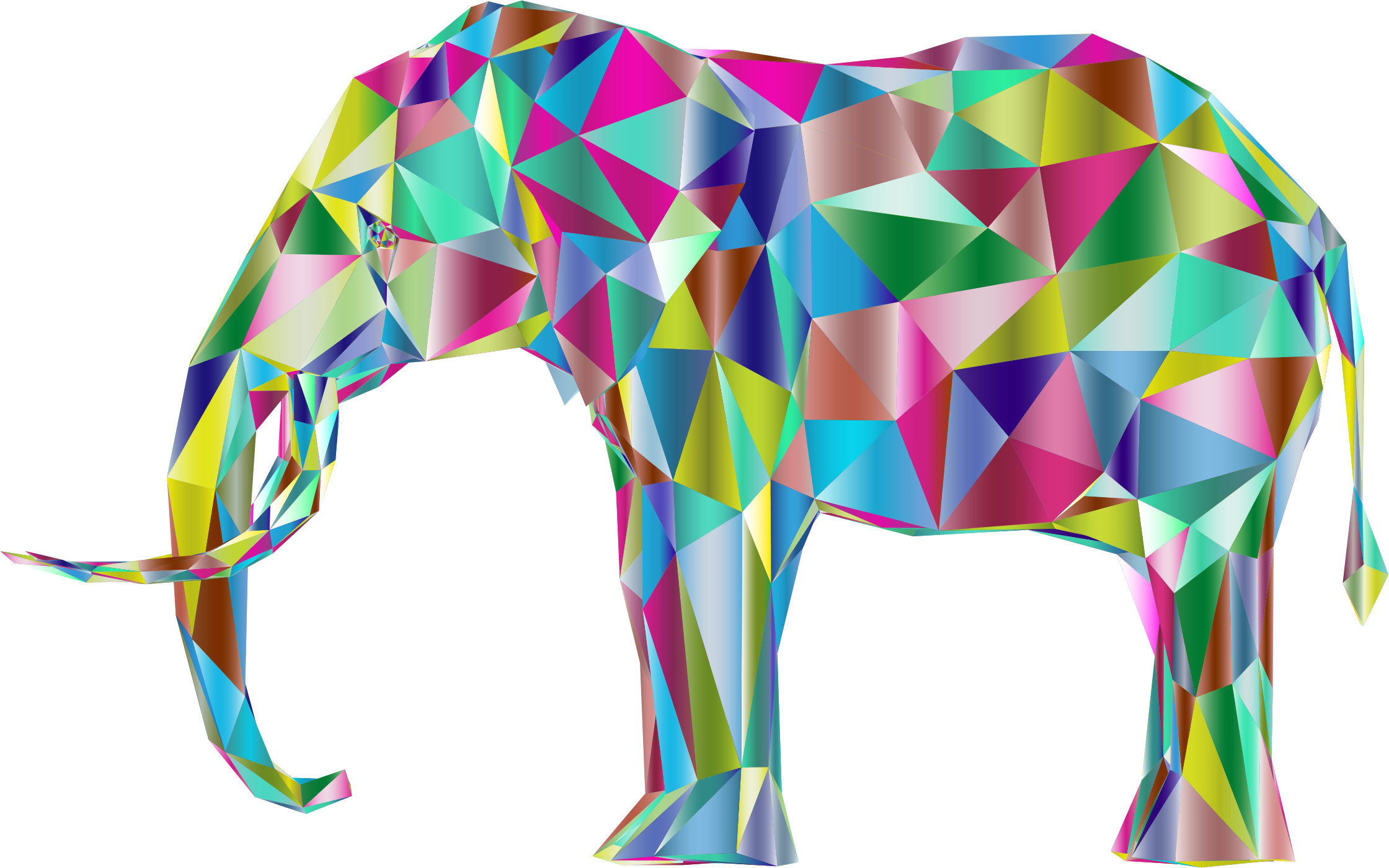 Prismatic Low Poly 3D Elephant Variation 2 by GDJ