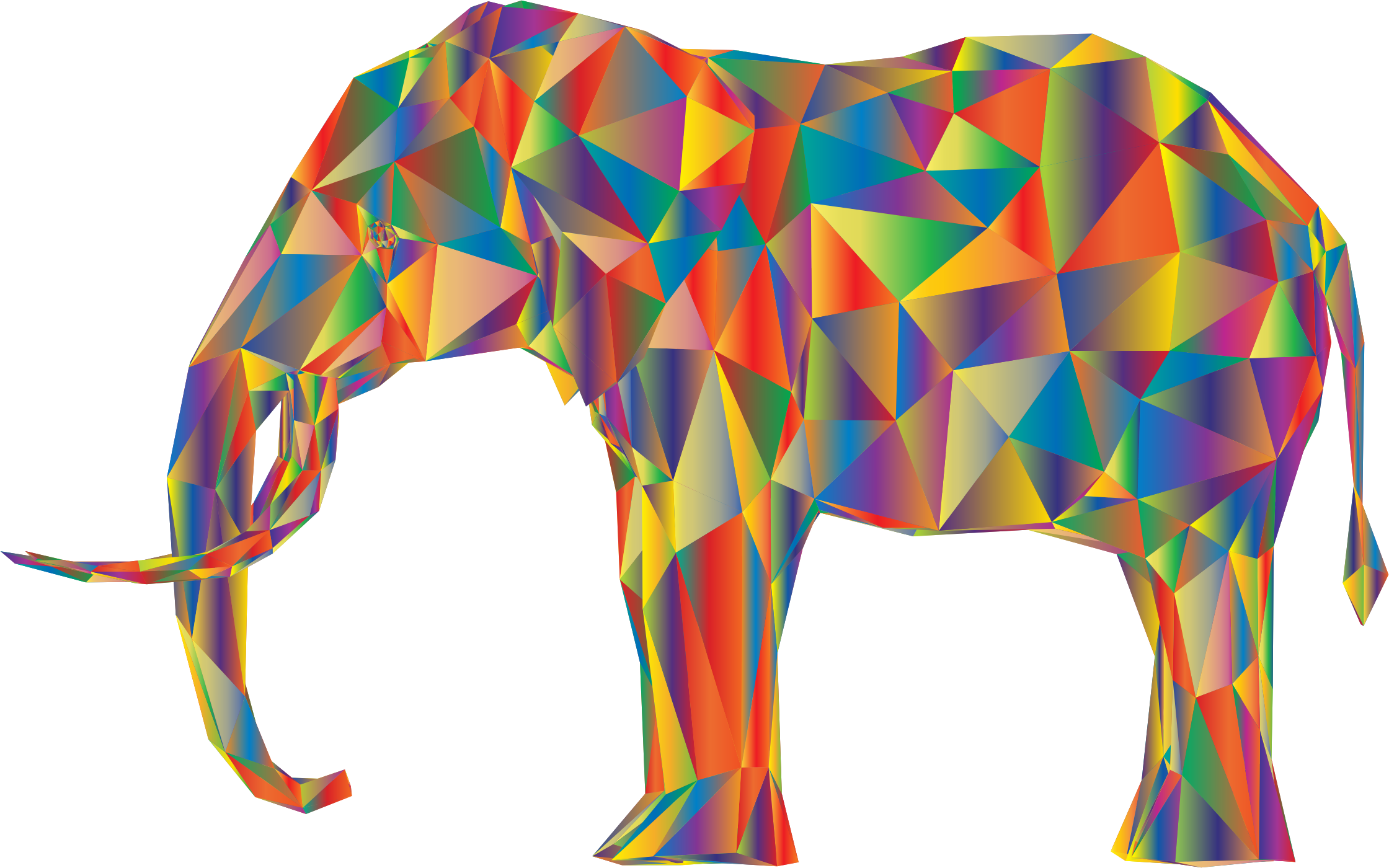 Prismatic Low Poly 3D Elephant Variation 4 by GDJ