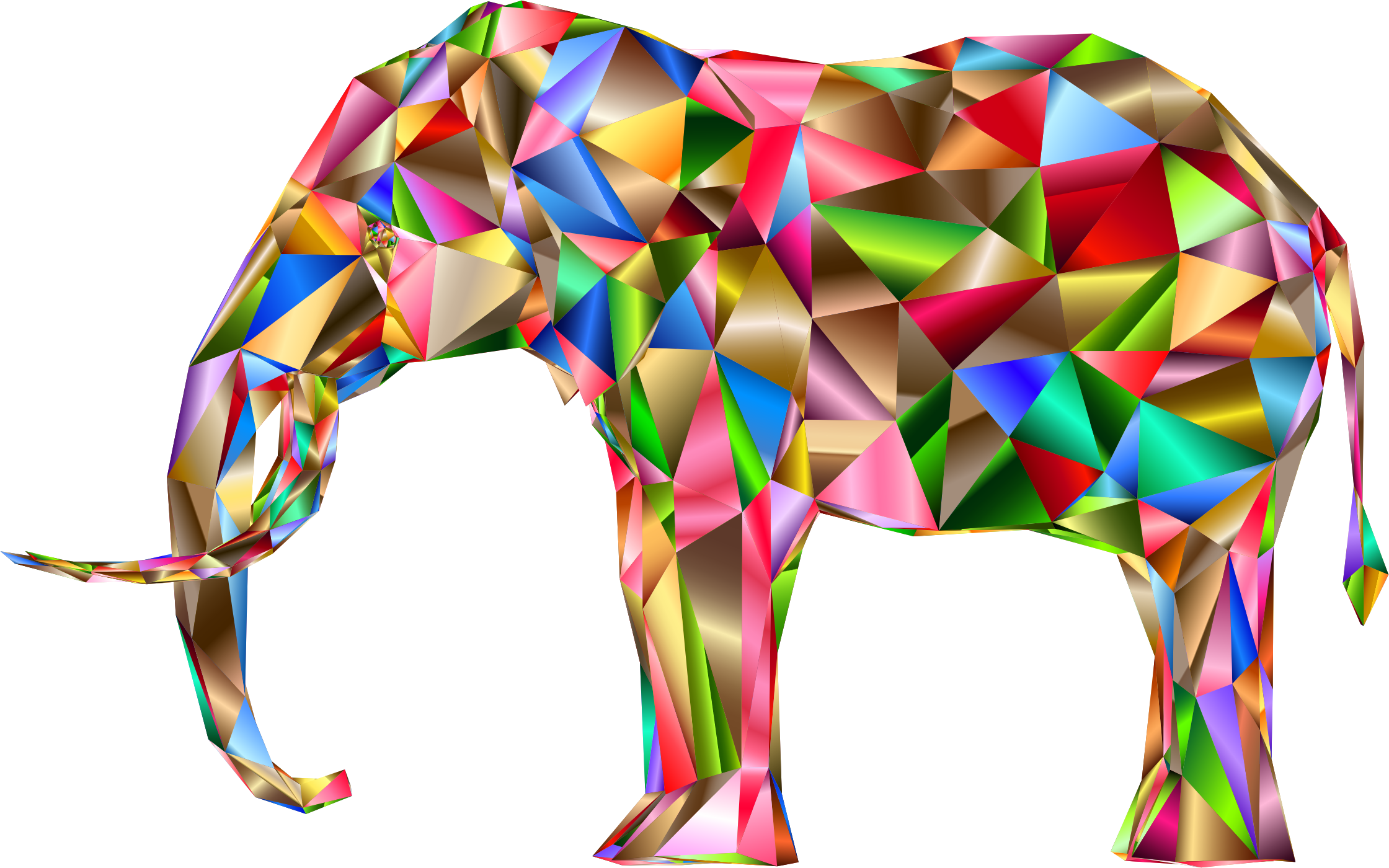 Prismatic Low Poly 3D Elephant Variation 6 by GDJ