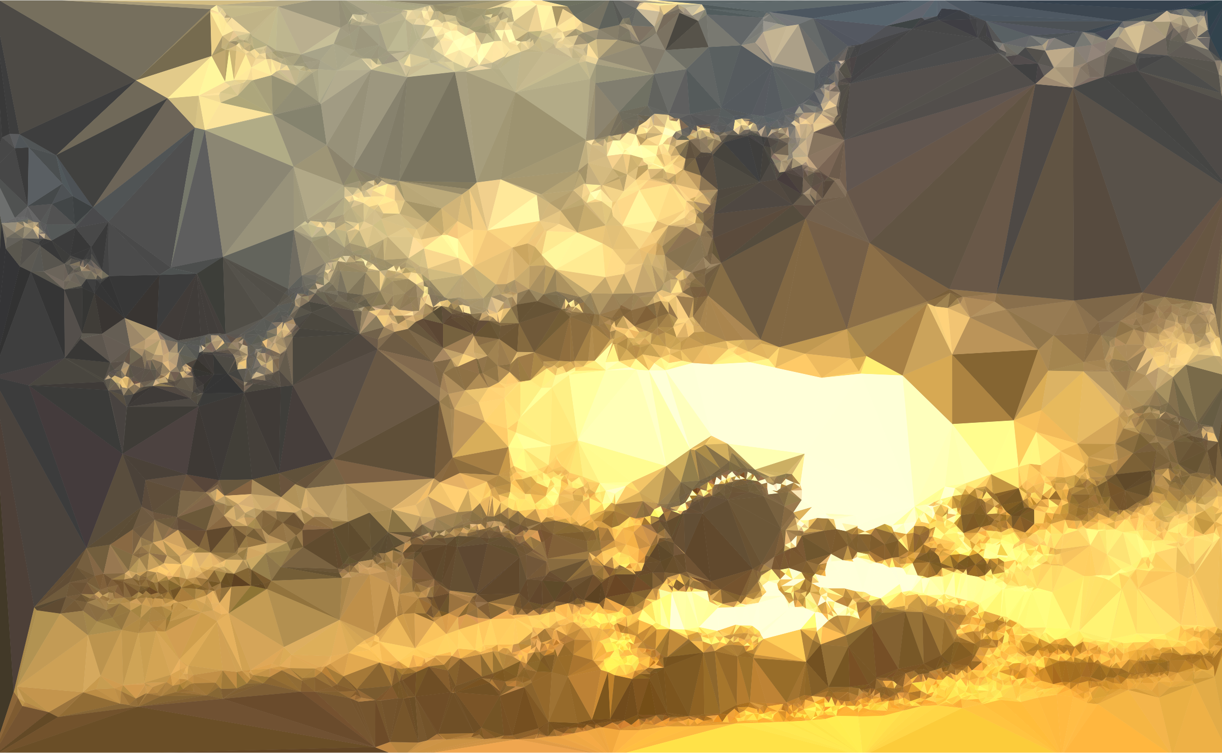 Low Poly Golden Sunset 2 by GDJ