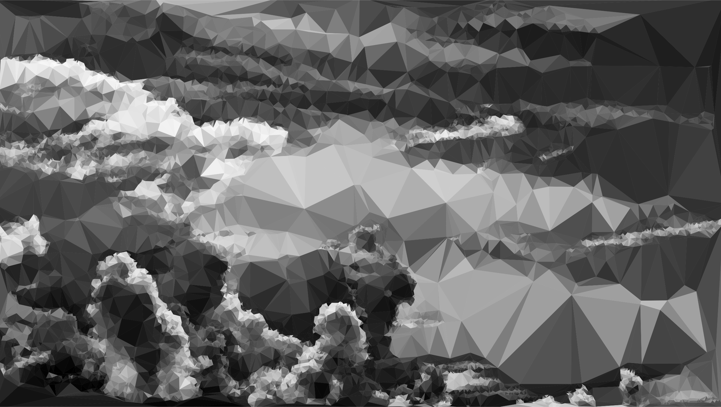 Low Poly Duochromatic Clouds by GDJ