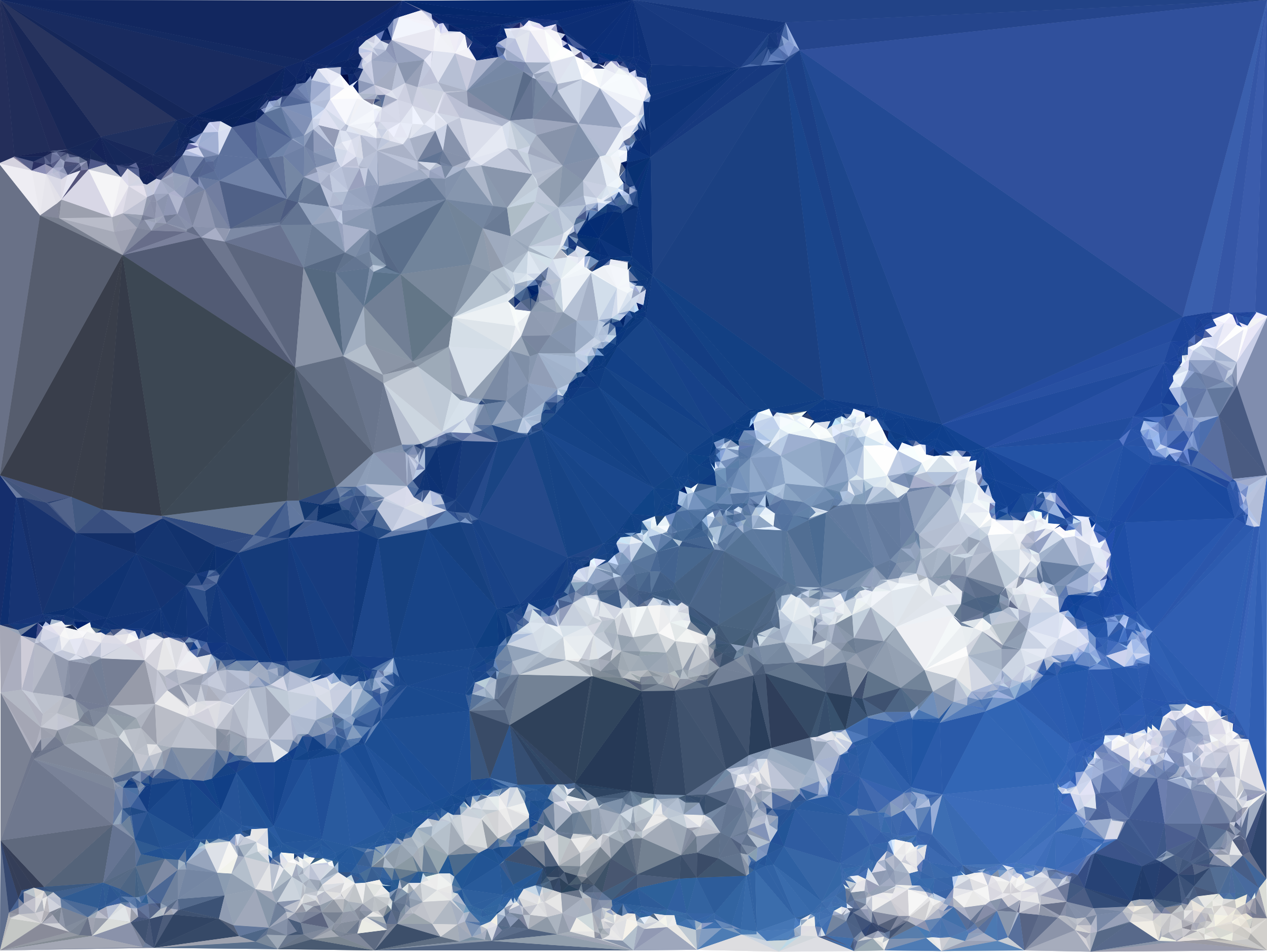 Low Poly Blue Sky 9 by GDJ