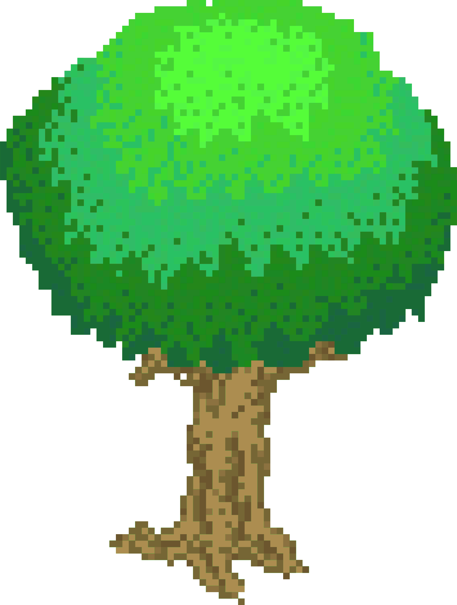 Pixel Tree Light Green by isaiah658