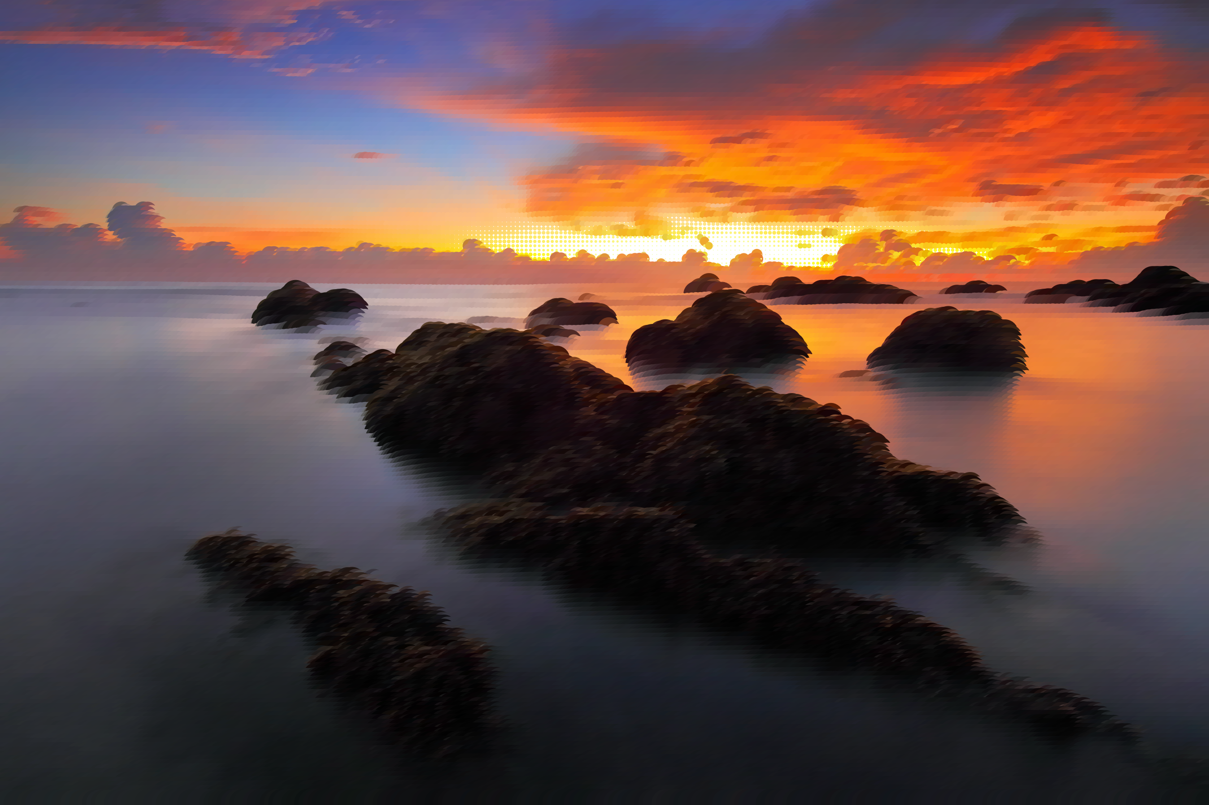 Surreal Seascape Sunset by GDJ