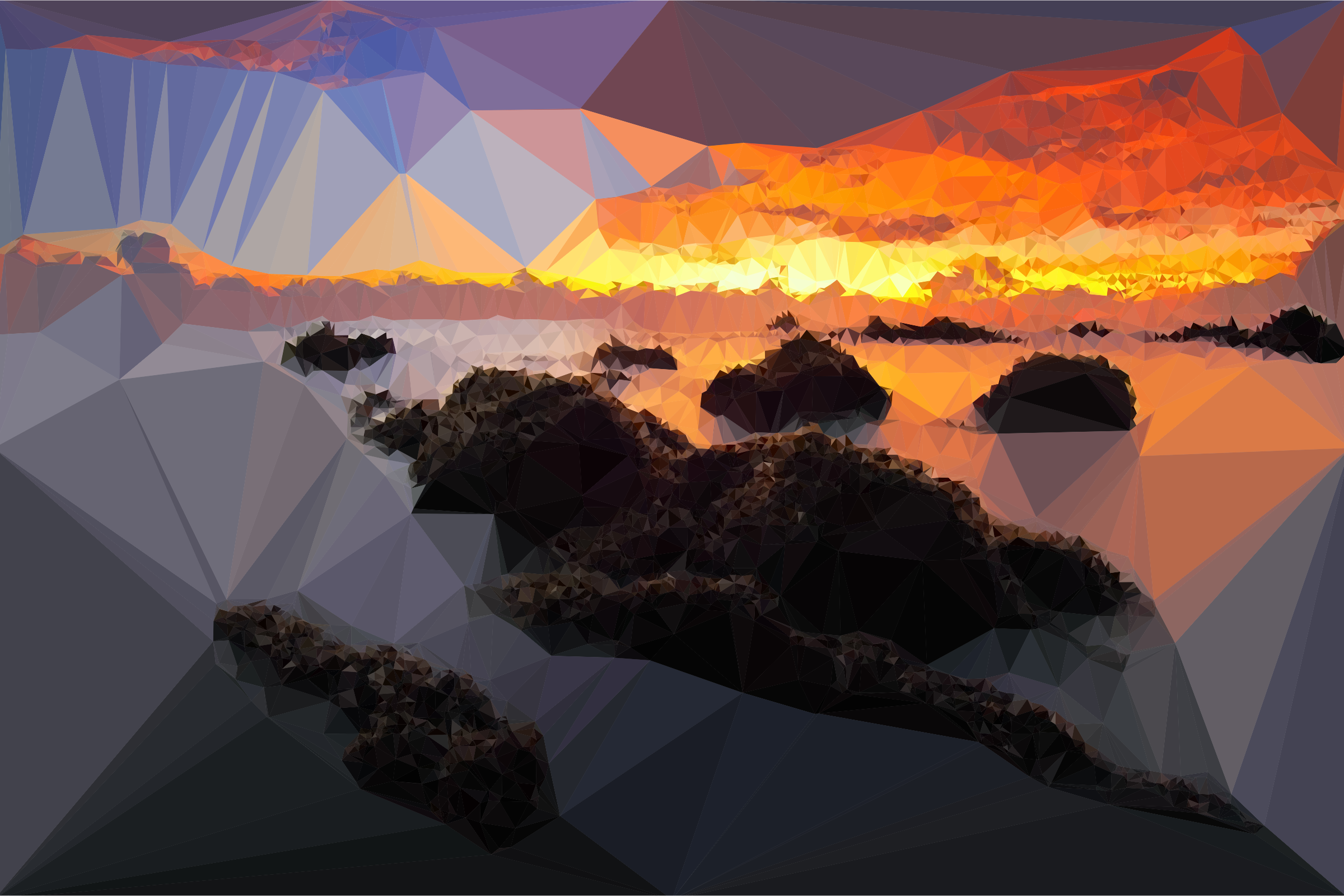 Low Poly Seascape Sunset by GDJ