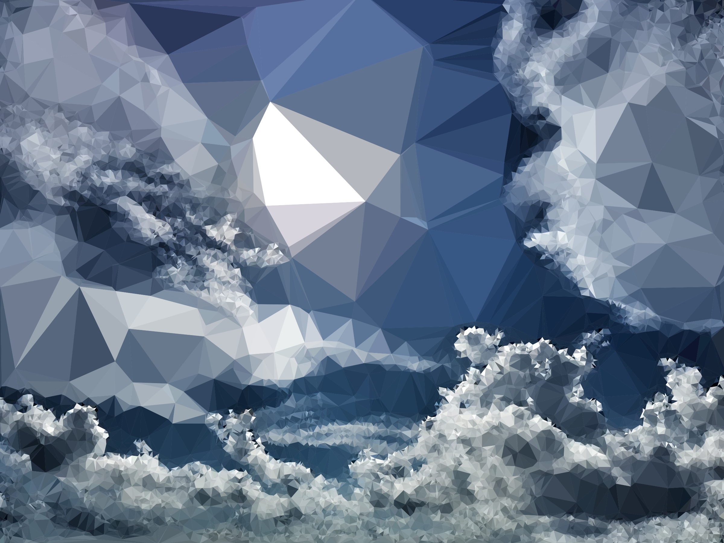 Low Poly Cloudscape by GDJ