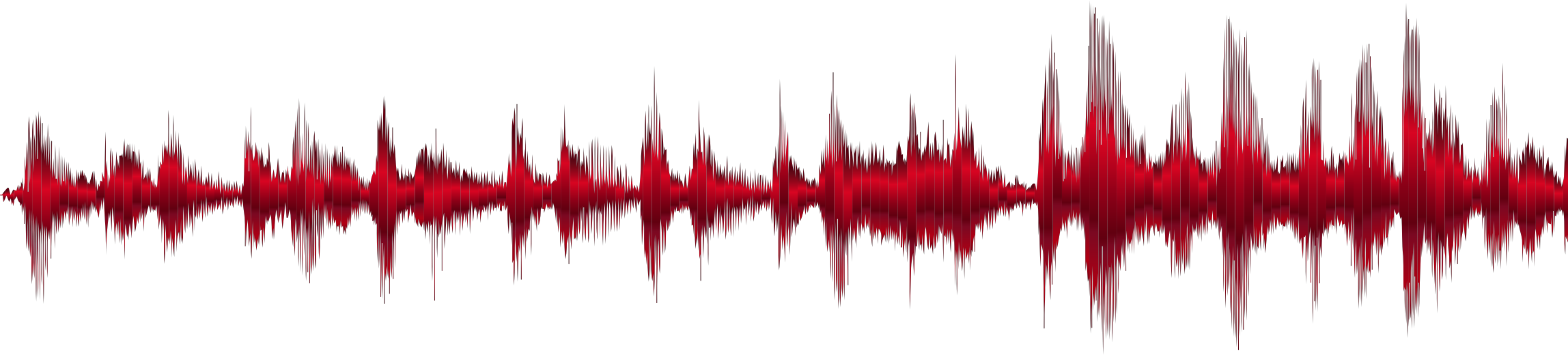 Crimson Sound Wave No Background by GDJ