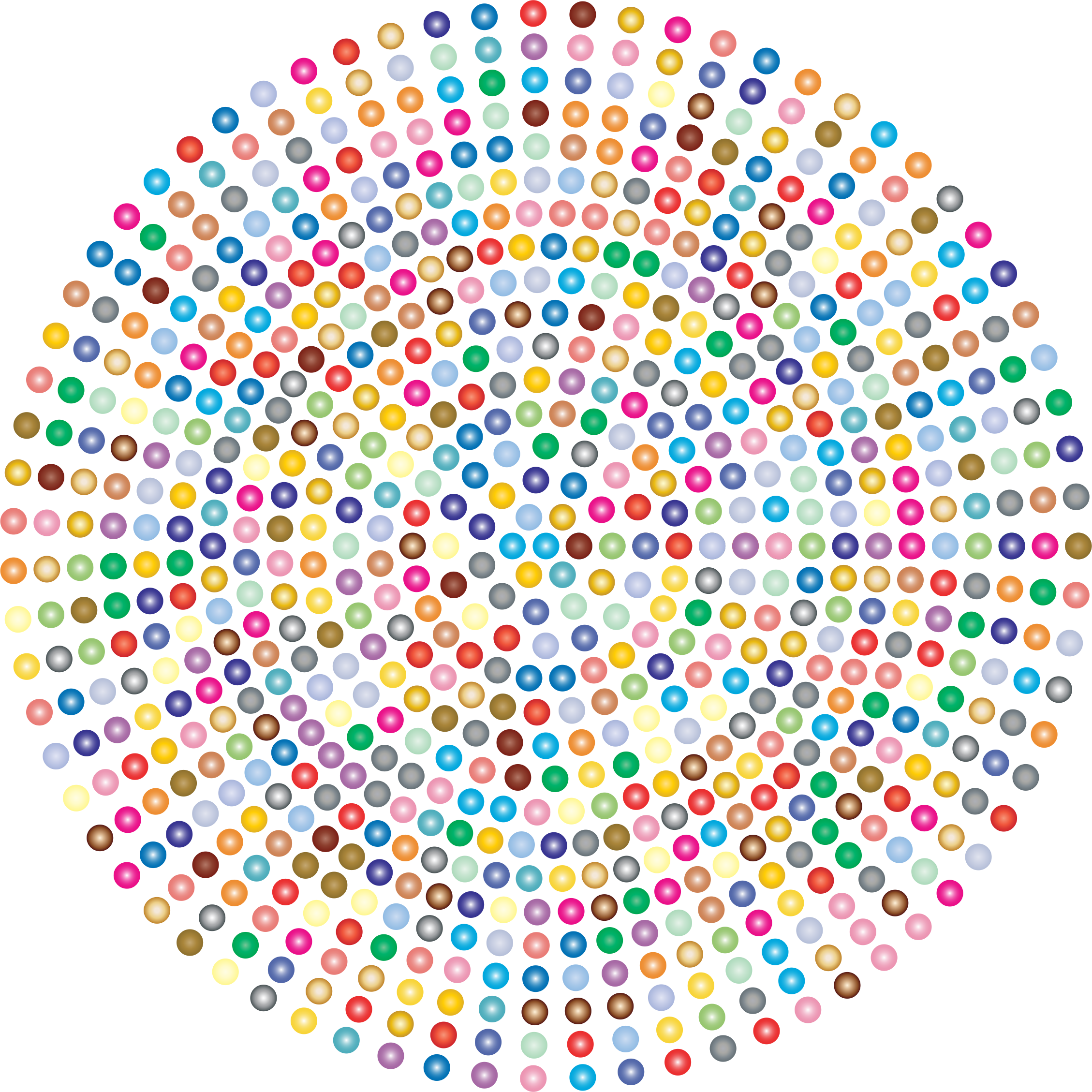 Prismatic Radial Dots 3 by GDJ