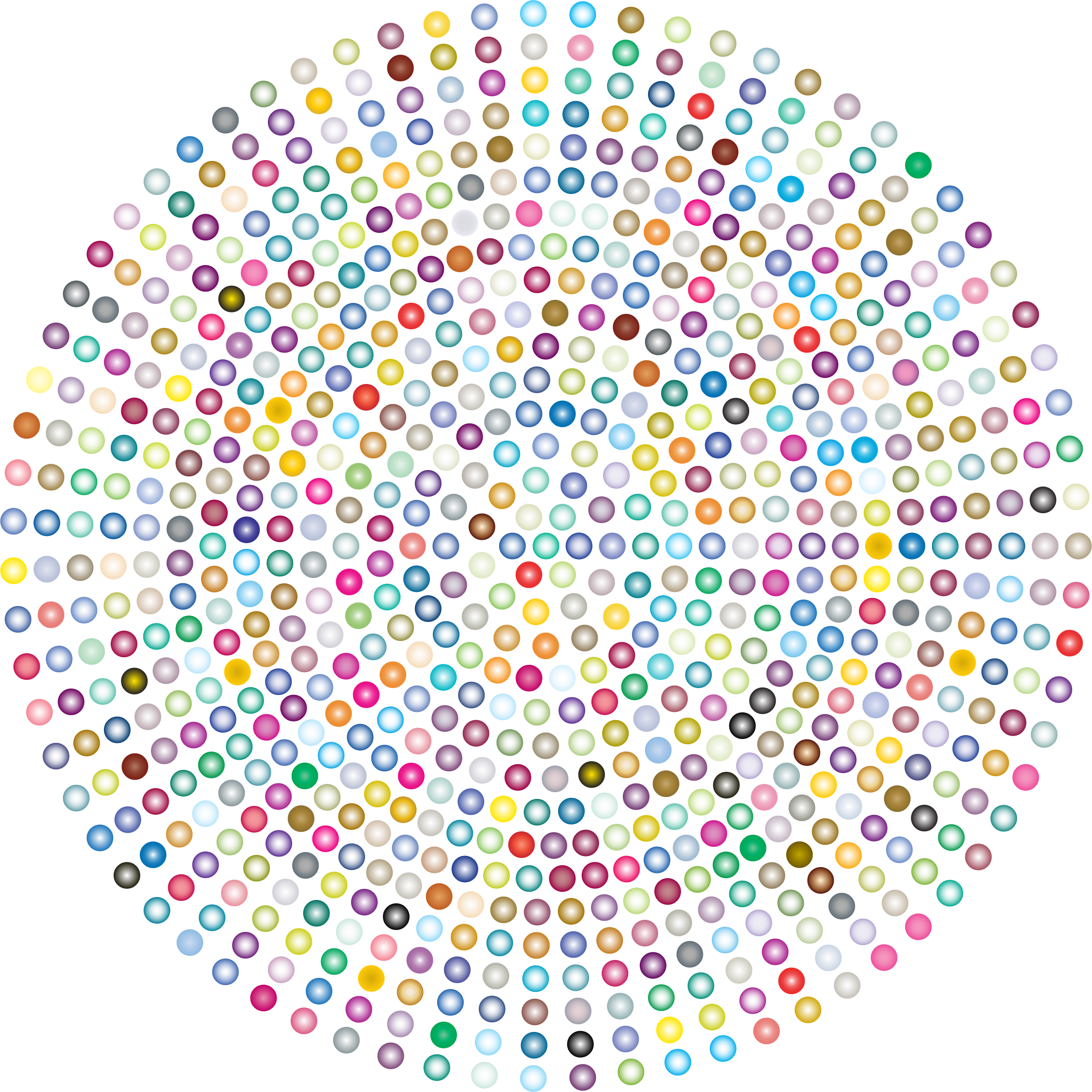 Prismatic Radial Dots 4 by GDJ