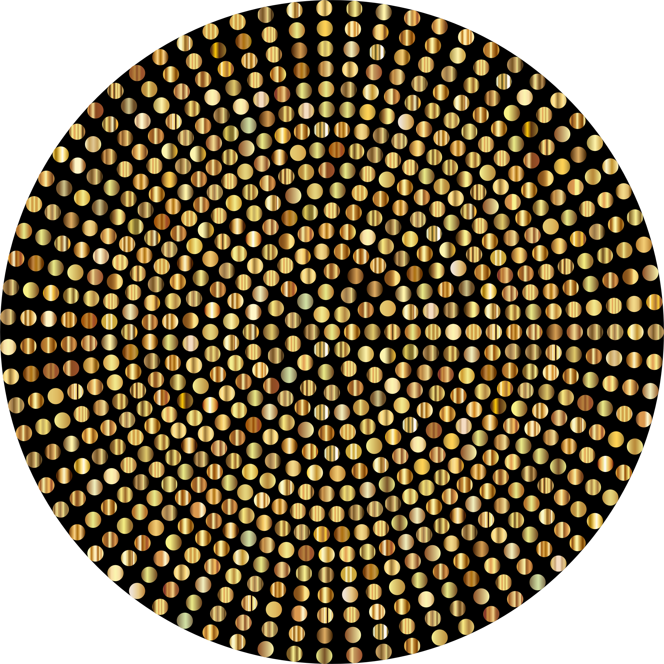 Gold Radial Dots by GDJ