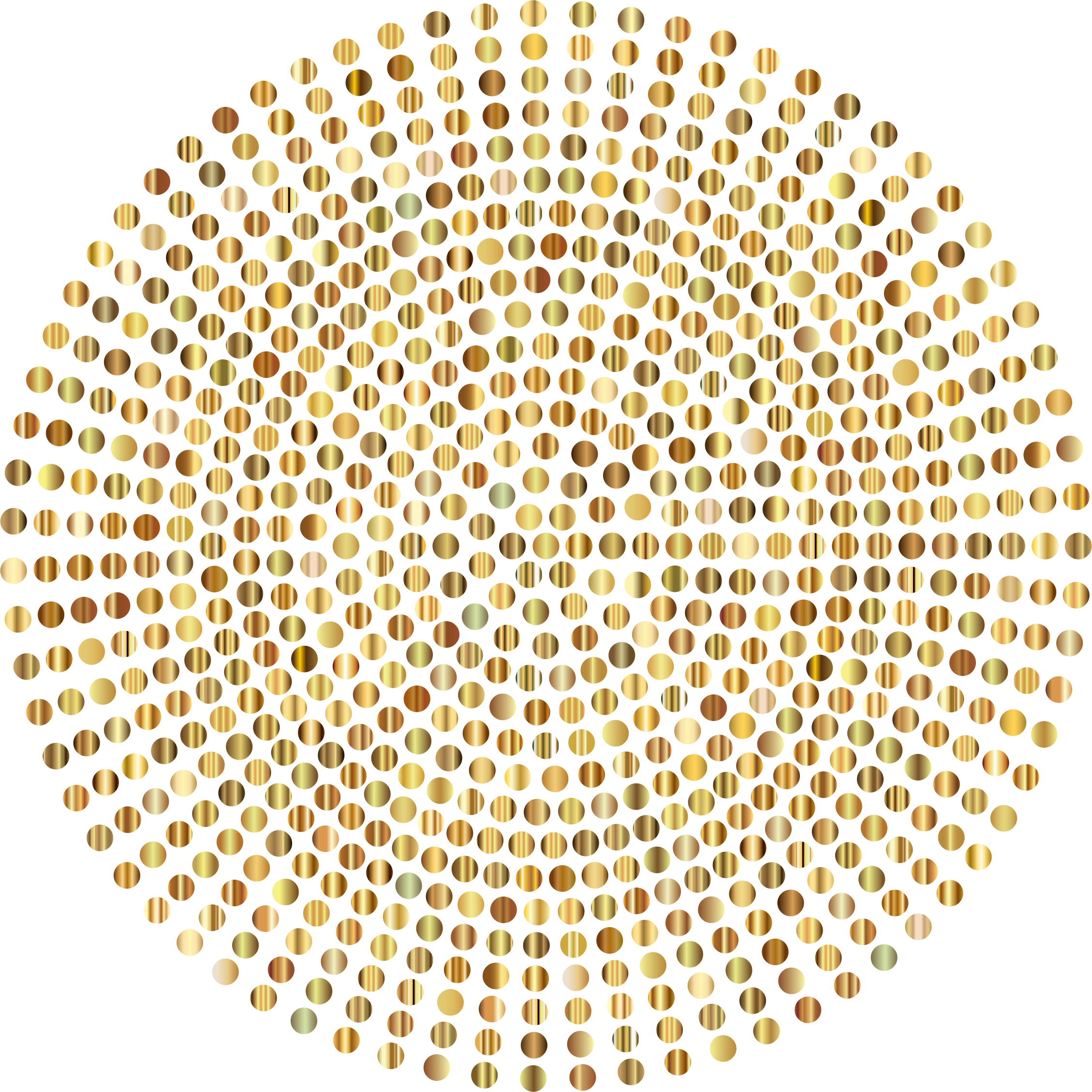 Clipart Gold Radial Dots No Background