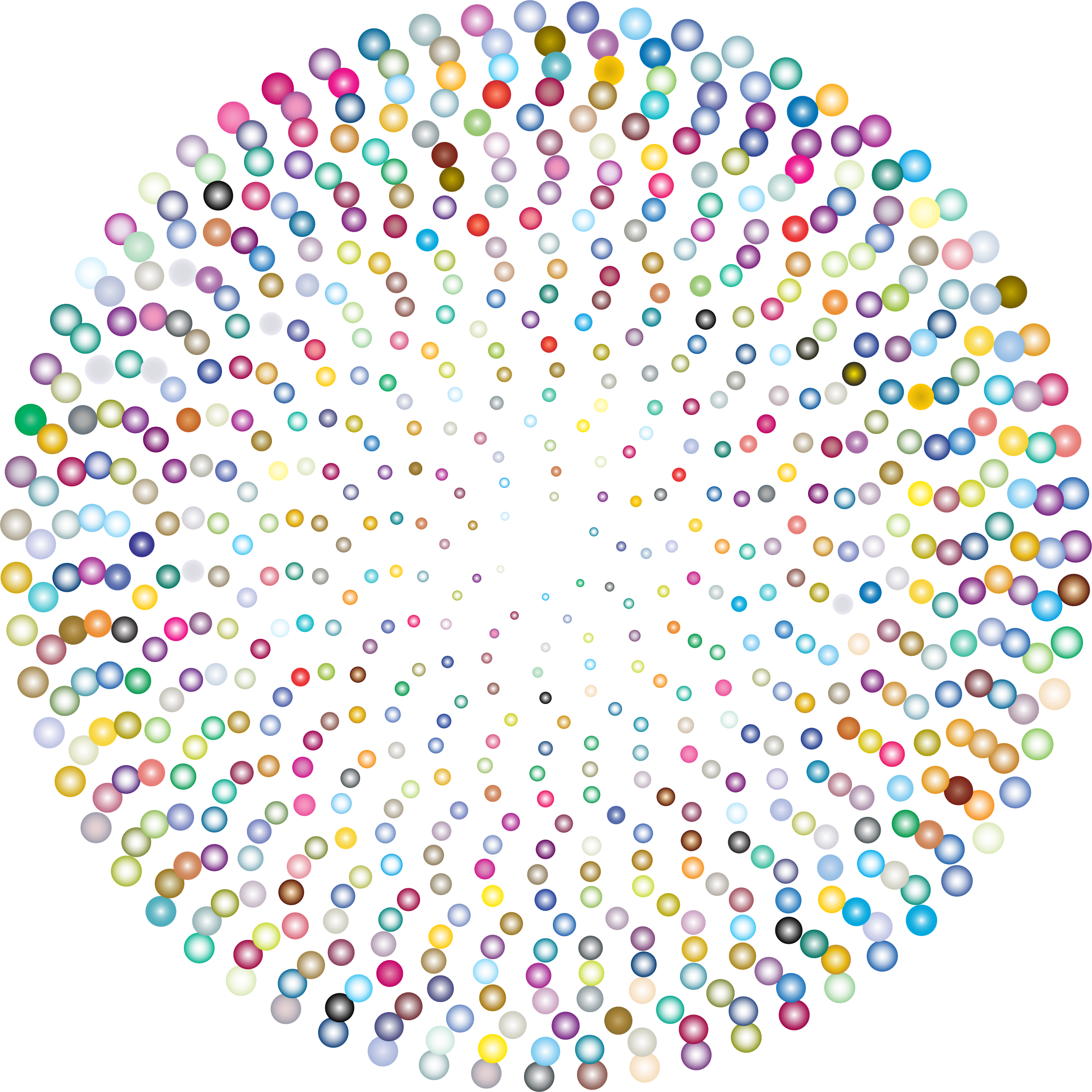 Prismatic Abstract Circles Design 3 by GDJ