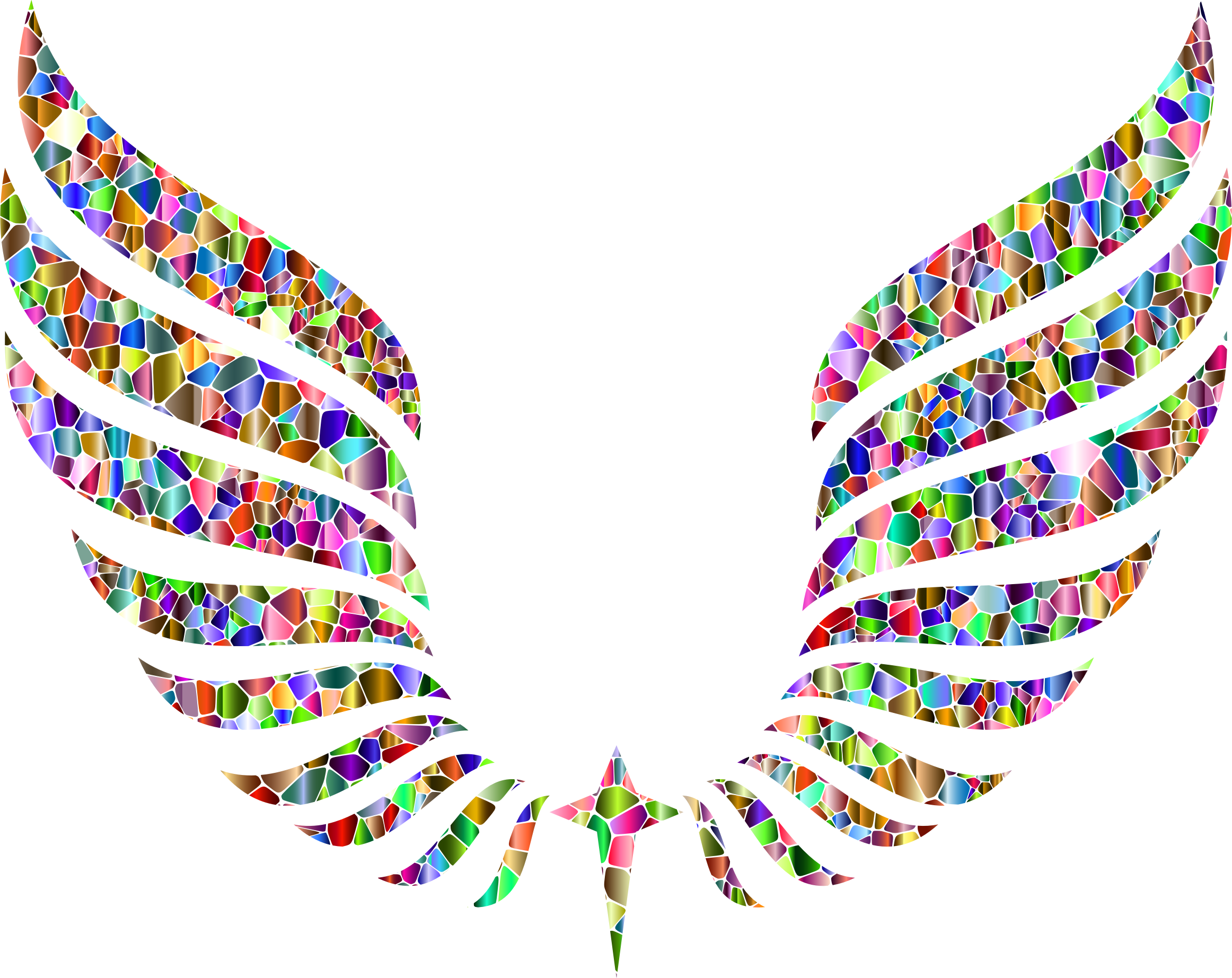 Vivid Chromatic Tiled Abstract Wings by GDJ