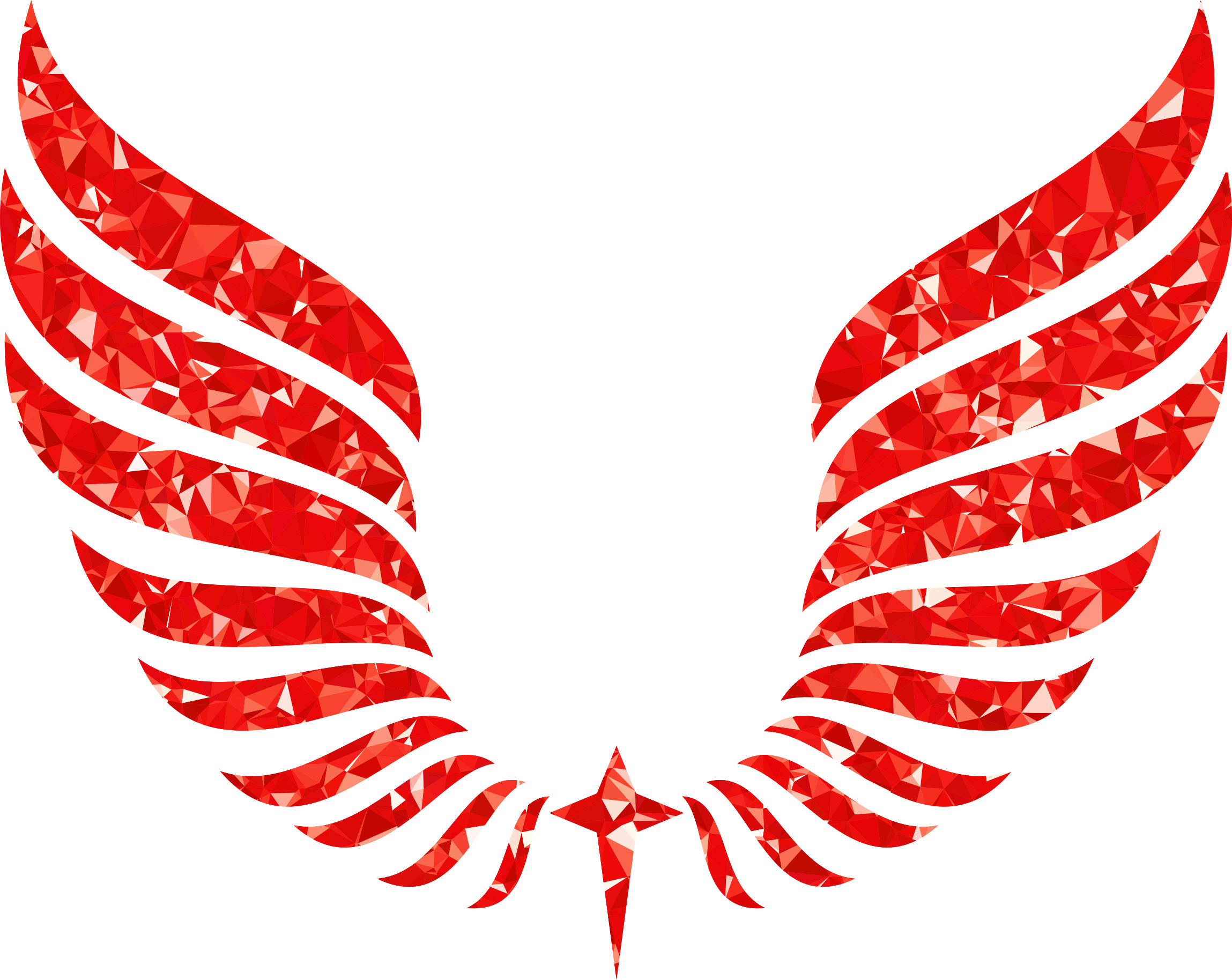 Ruby Abstract Wings by GDJ