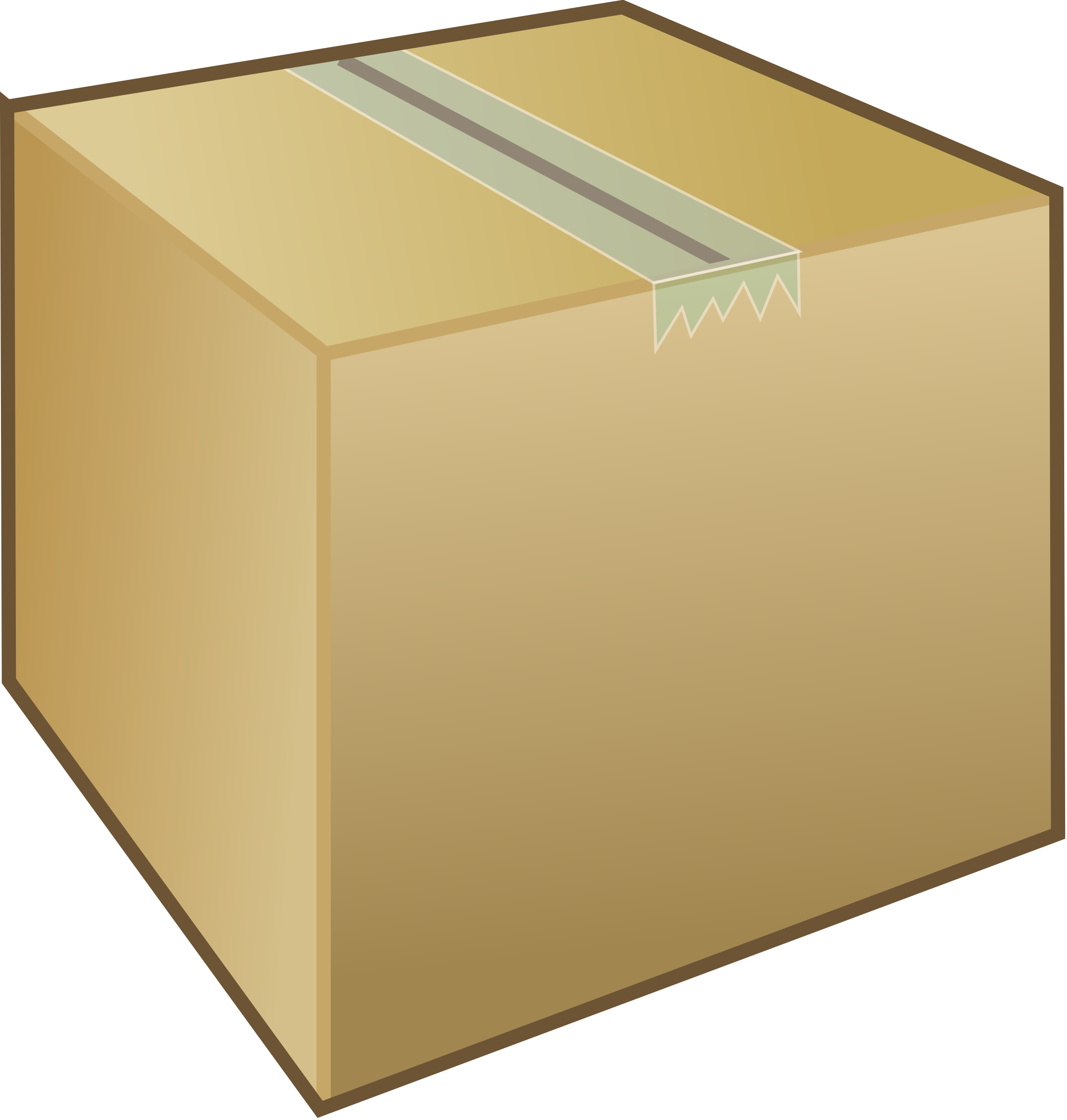 Cardboard box / package by Kliponius