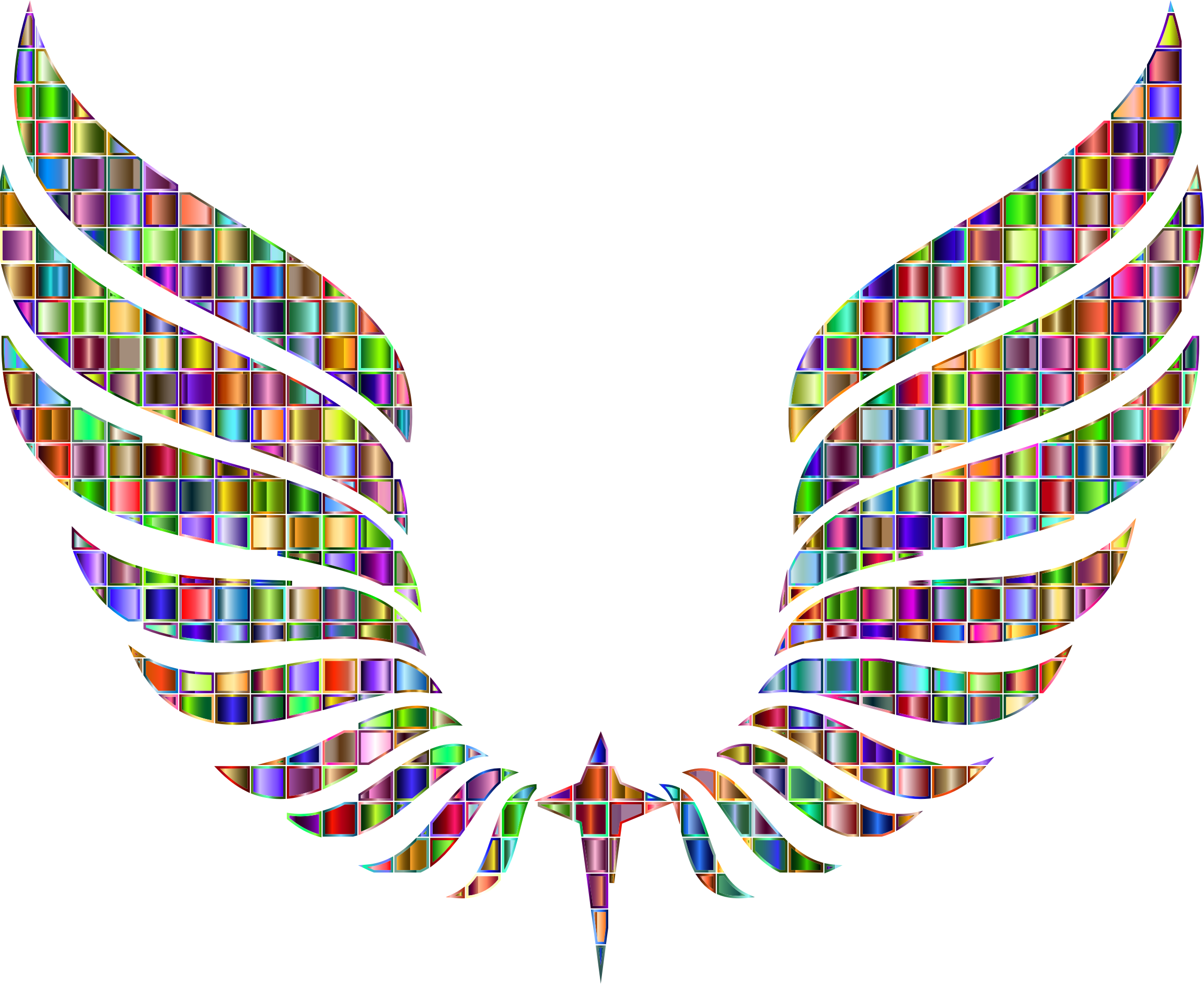 Chromatic Mosaic Abstract Wings by GDJ