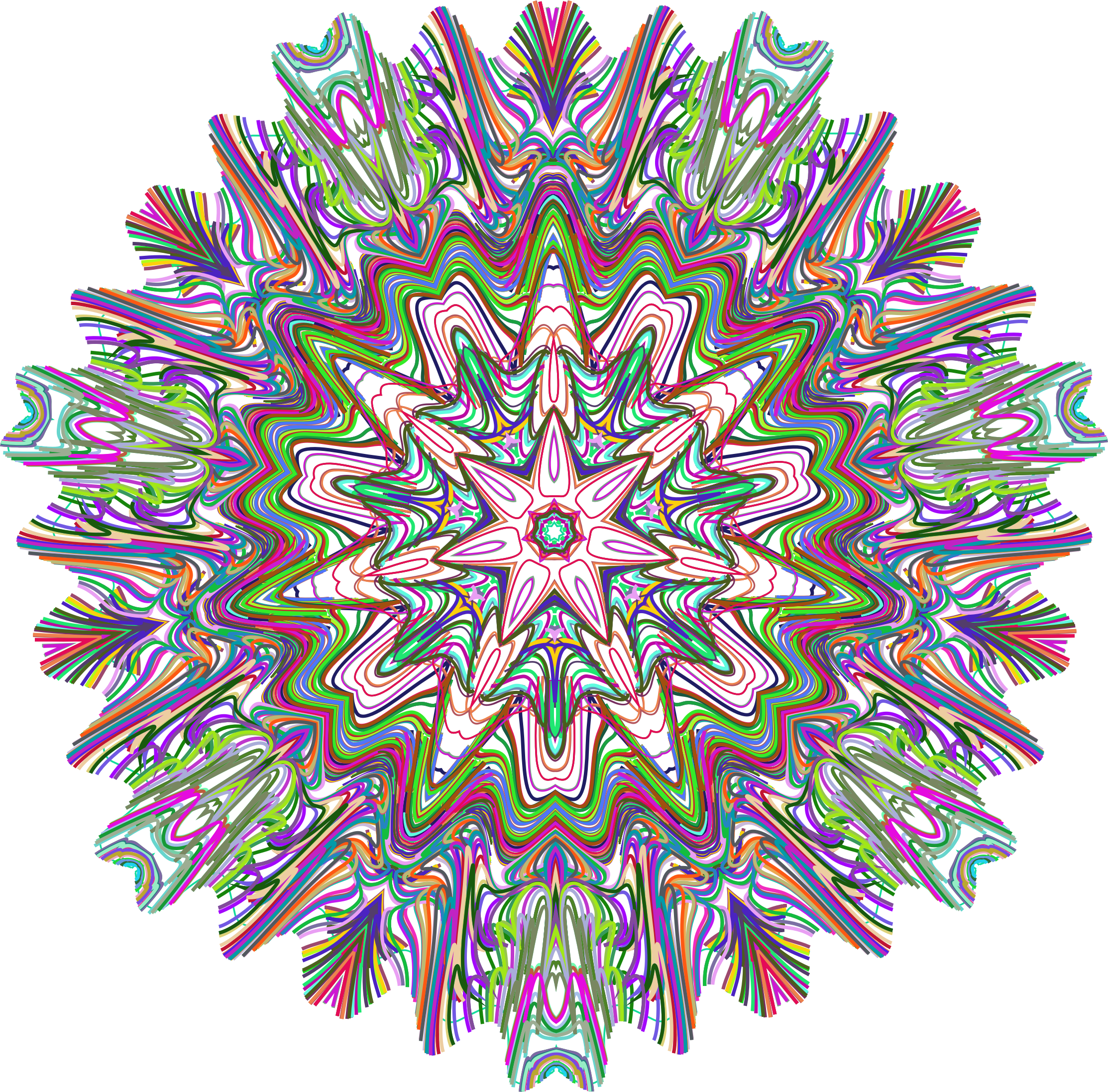 Line Art No Background : Clipart prismatic line art mandala no background