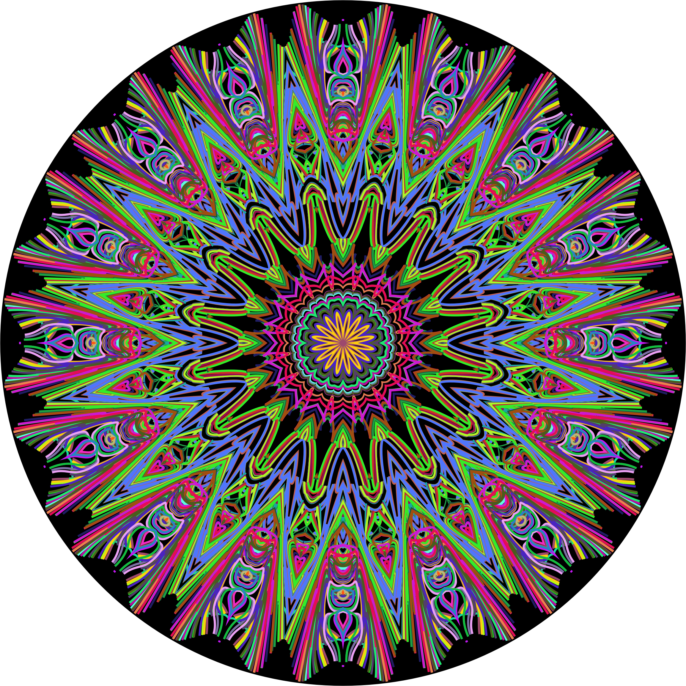 Prismatic Mandala Line Art 2 by GDJ