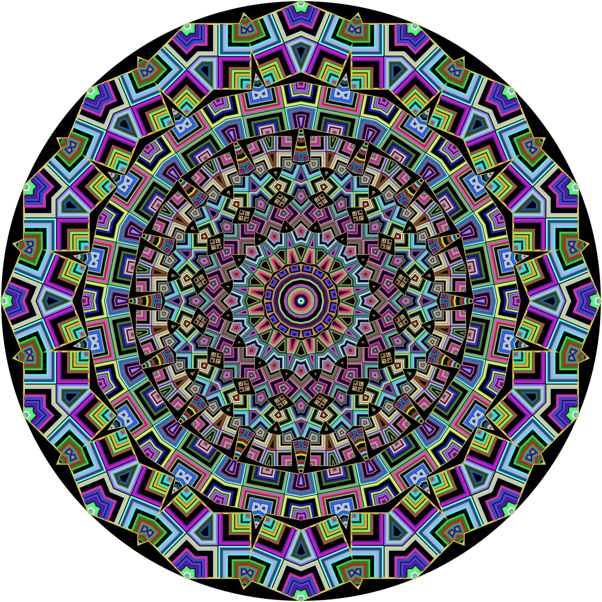 Prismatic Mandala Line Art 3 by GDJ