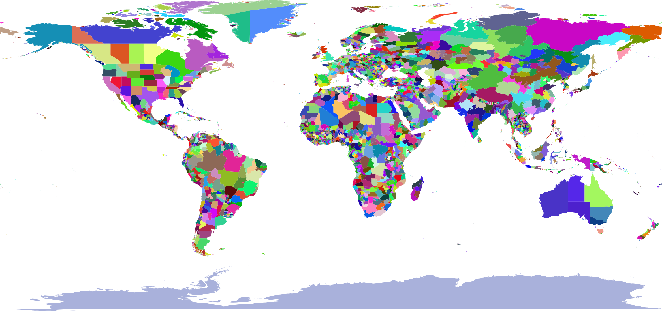 Colorful World Map by GDJ