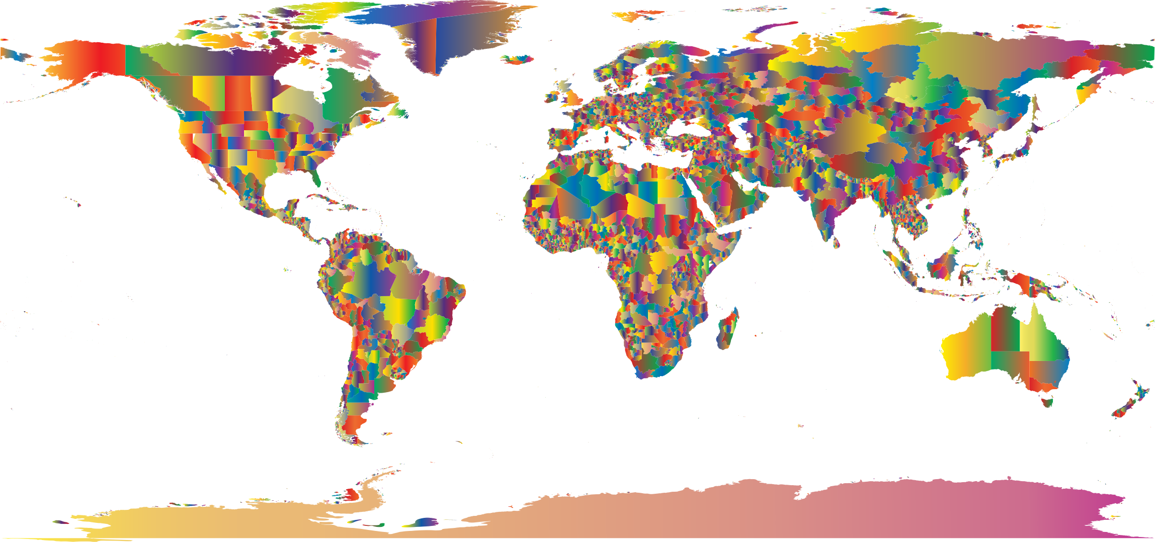 Colorful World Maps My Blog