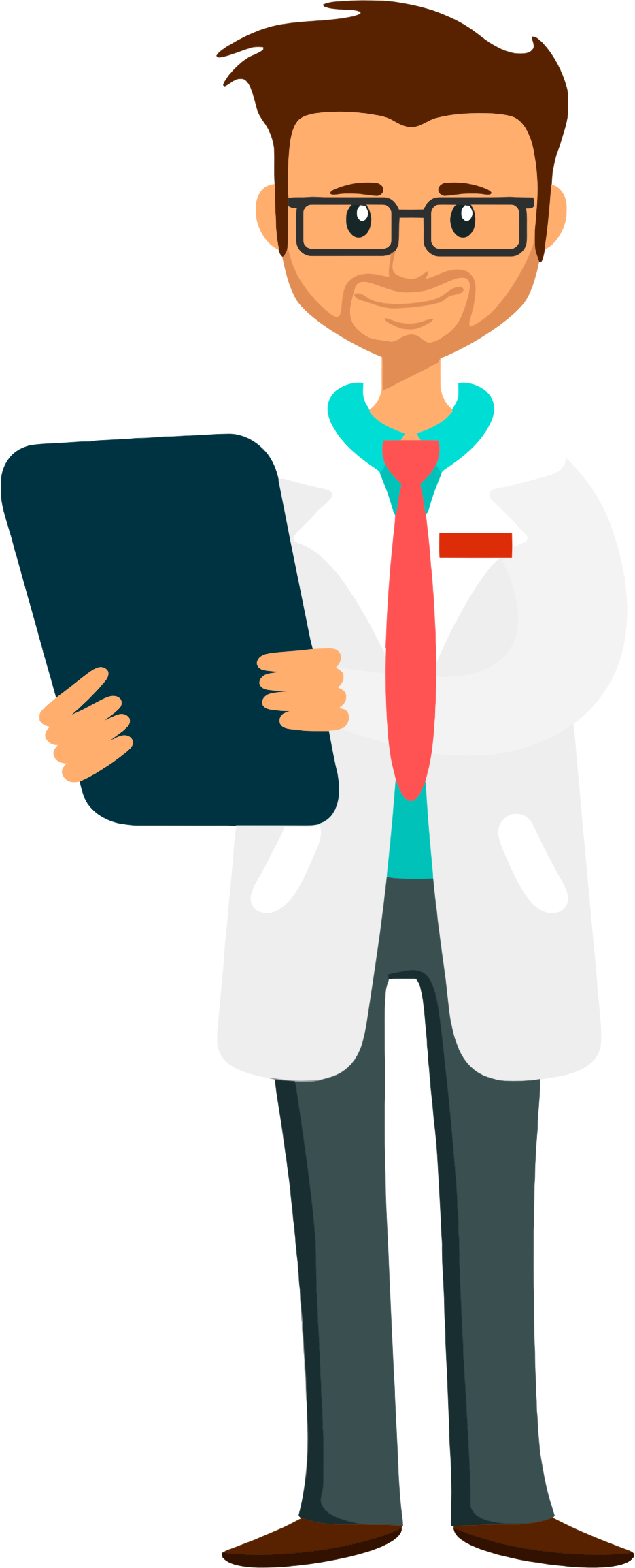 Doctor Holding Clipboard by GDJ