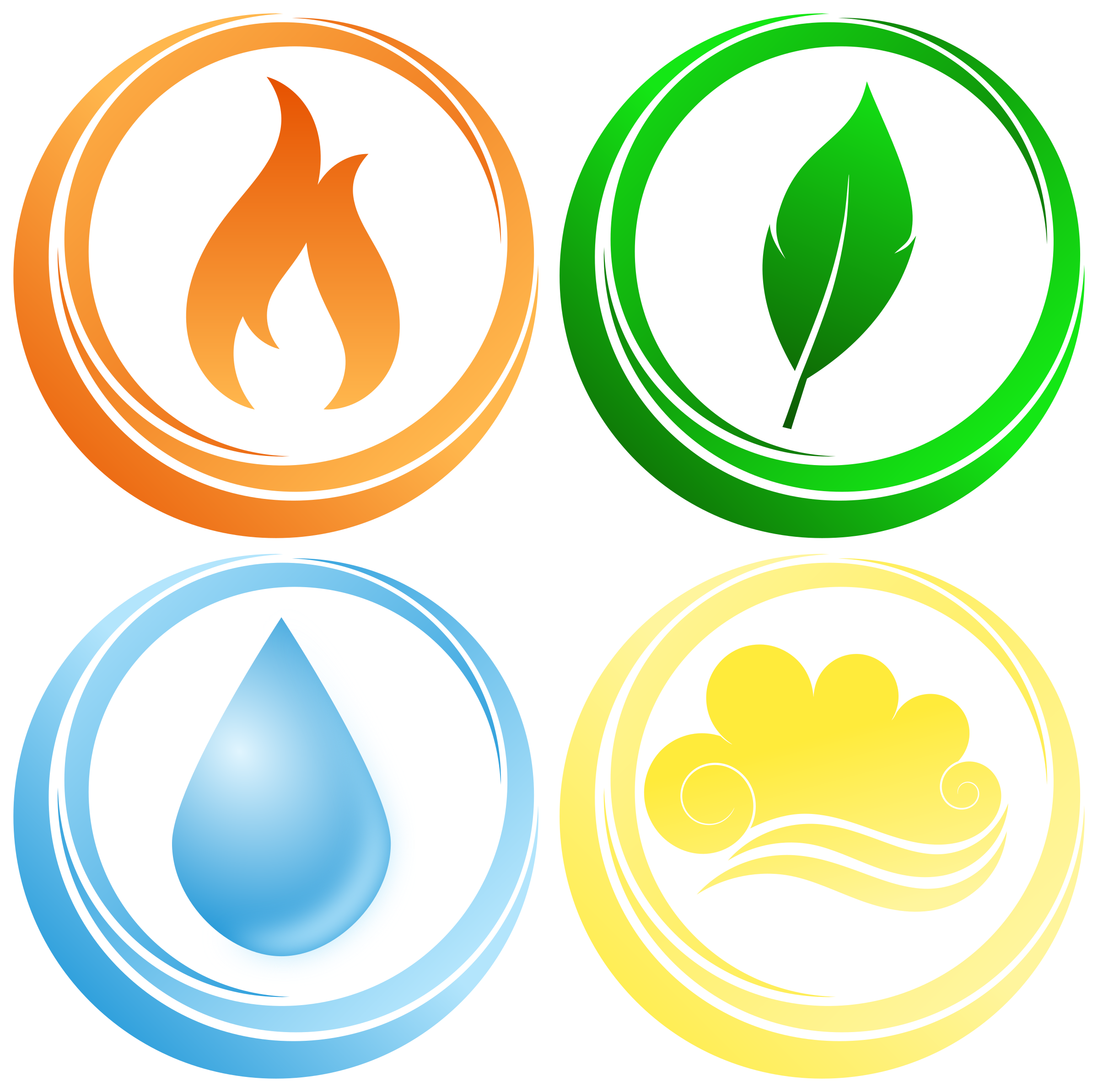 Symbols of the four elements by Susa