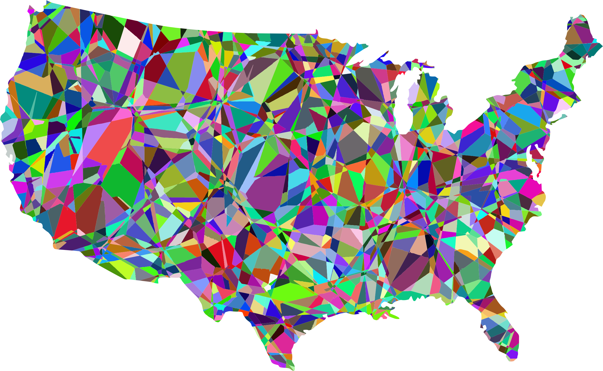 Technicolor United States Map by GDJ