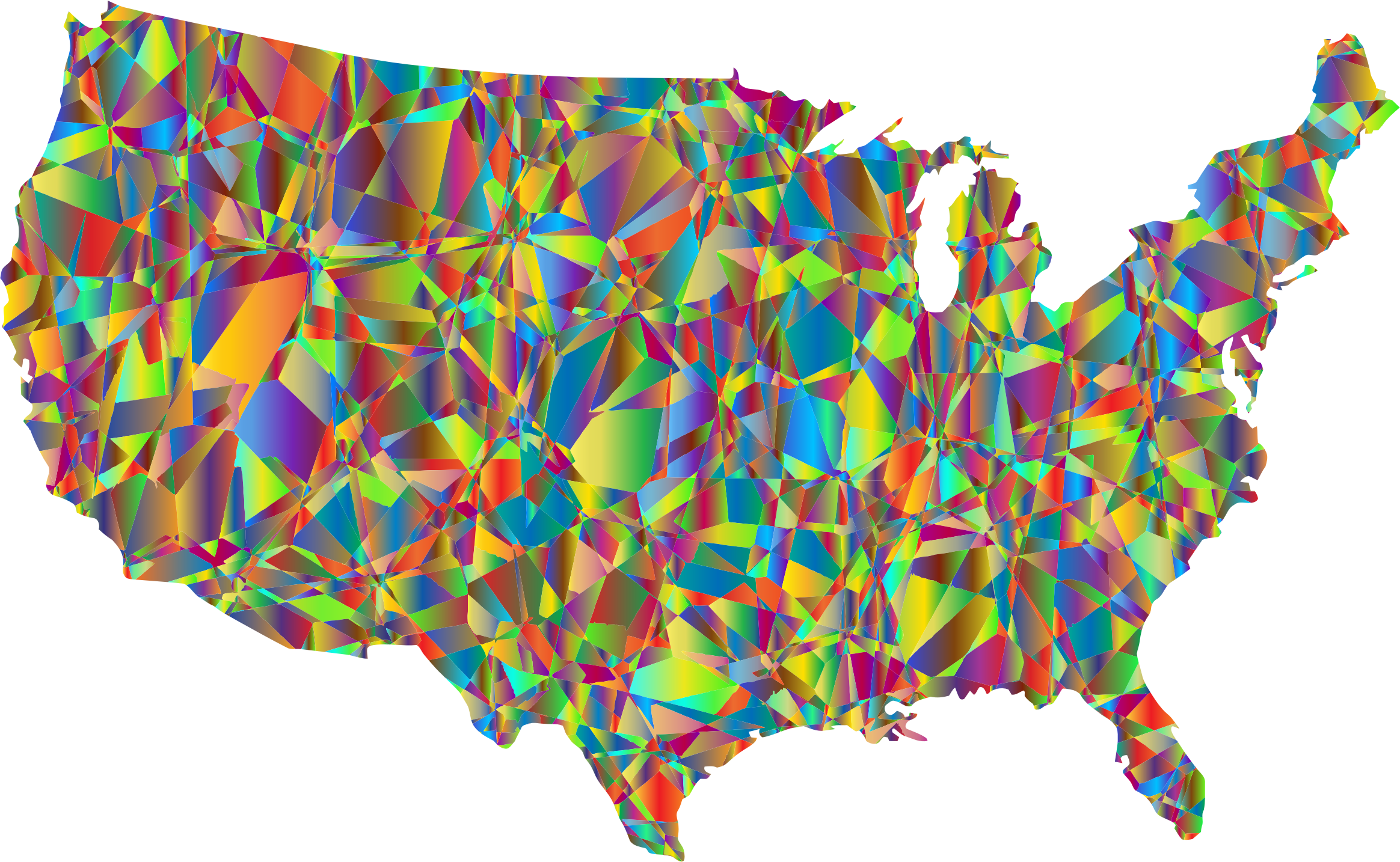 Technicolor United States Map 2 by GDJ