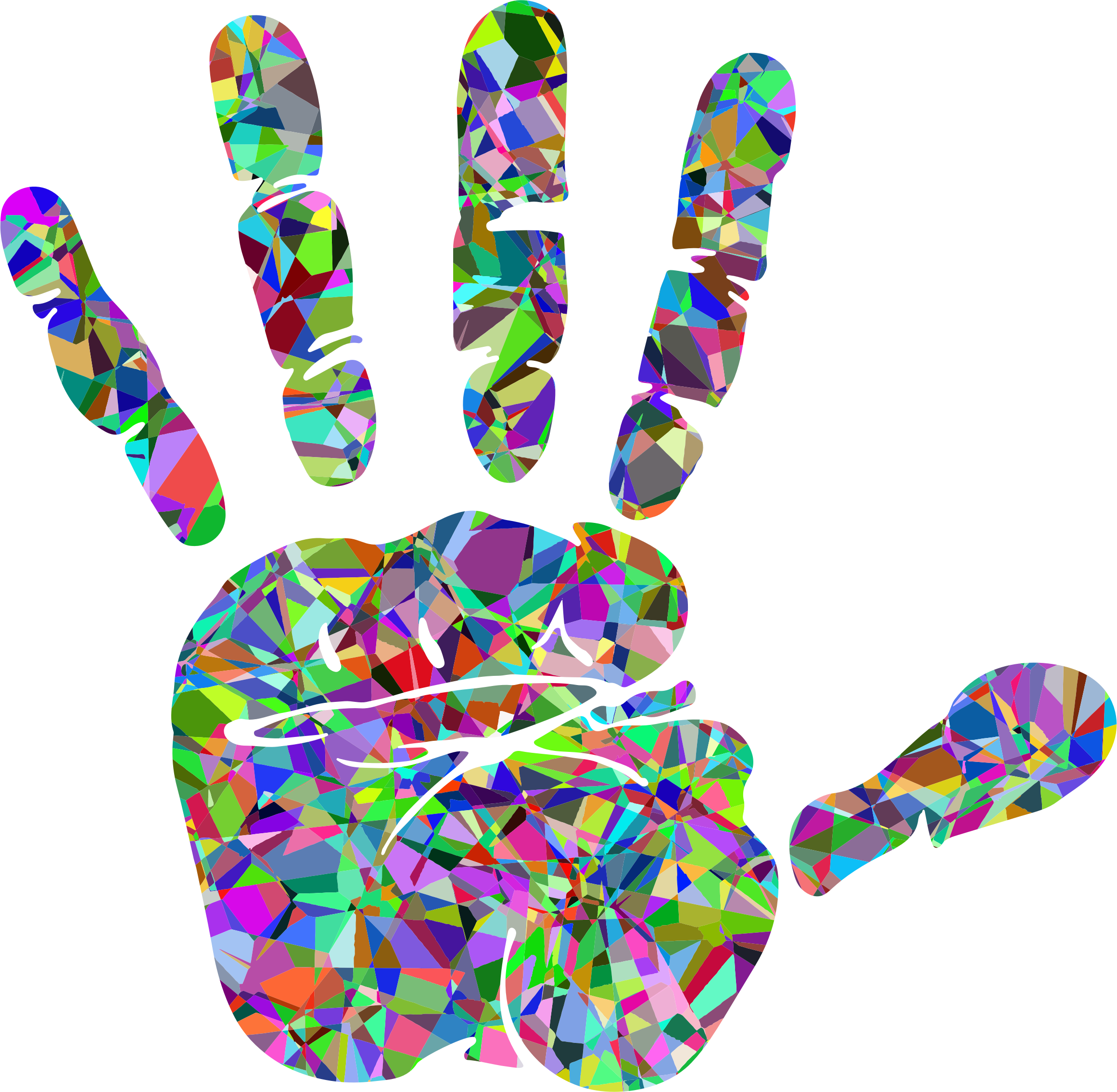 Technicolor Handprint Silhouette by GDJ