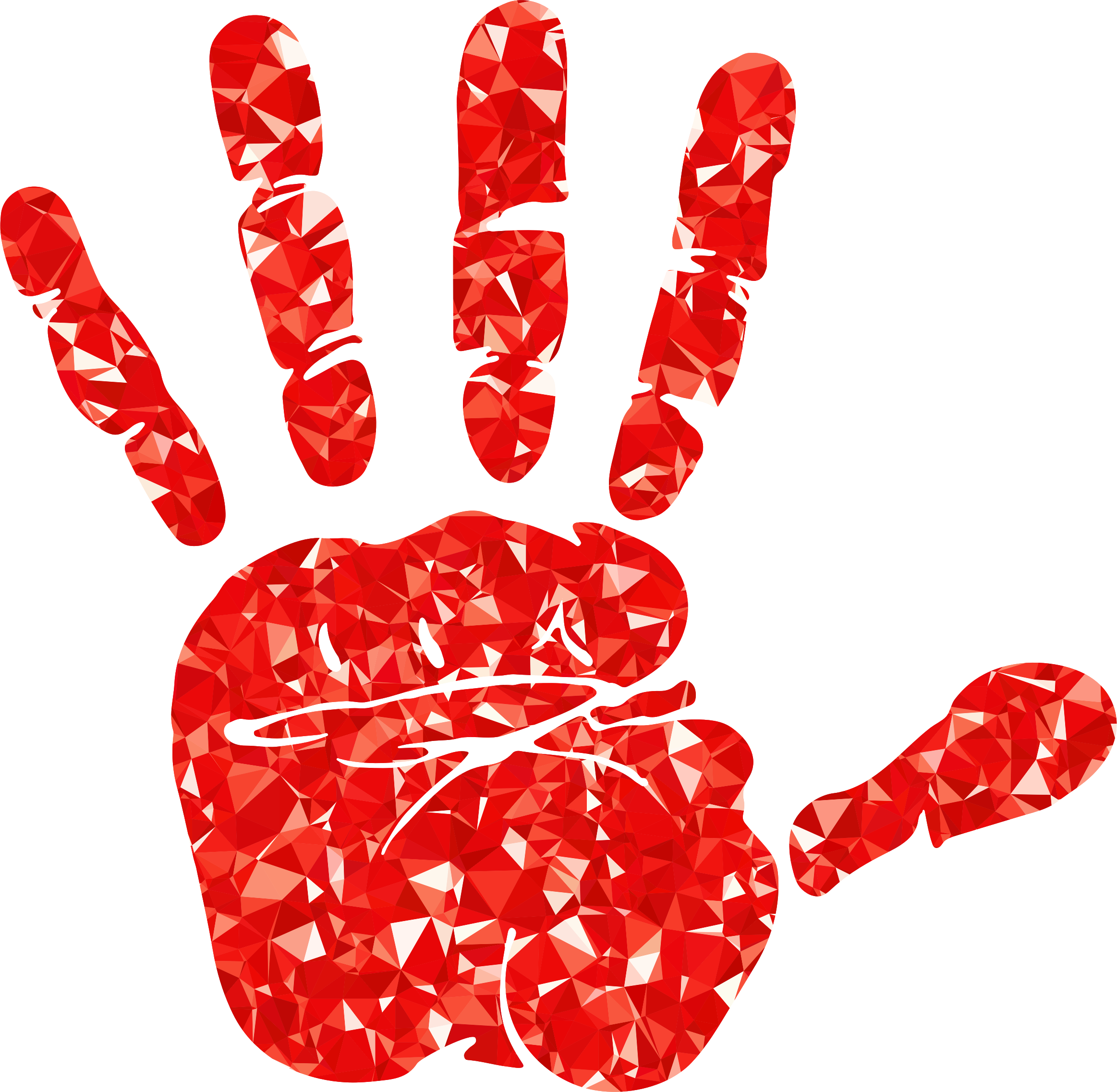 Ruby Handprint Silhouette by GDJ