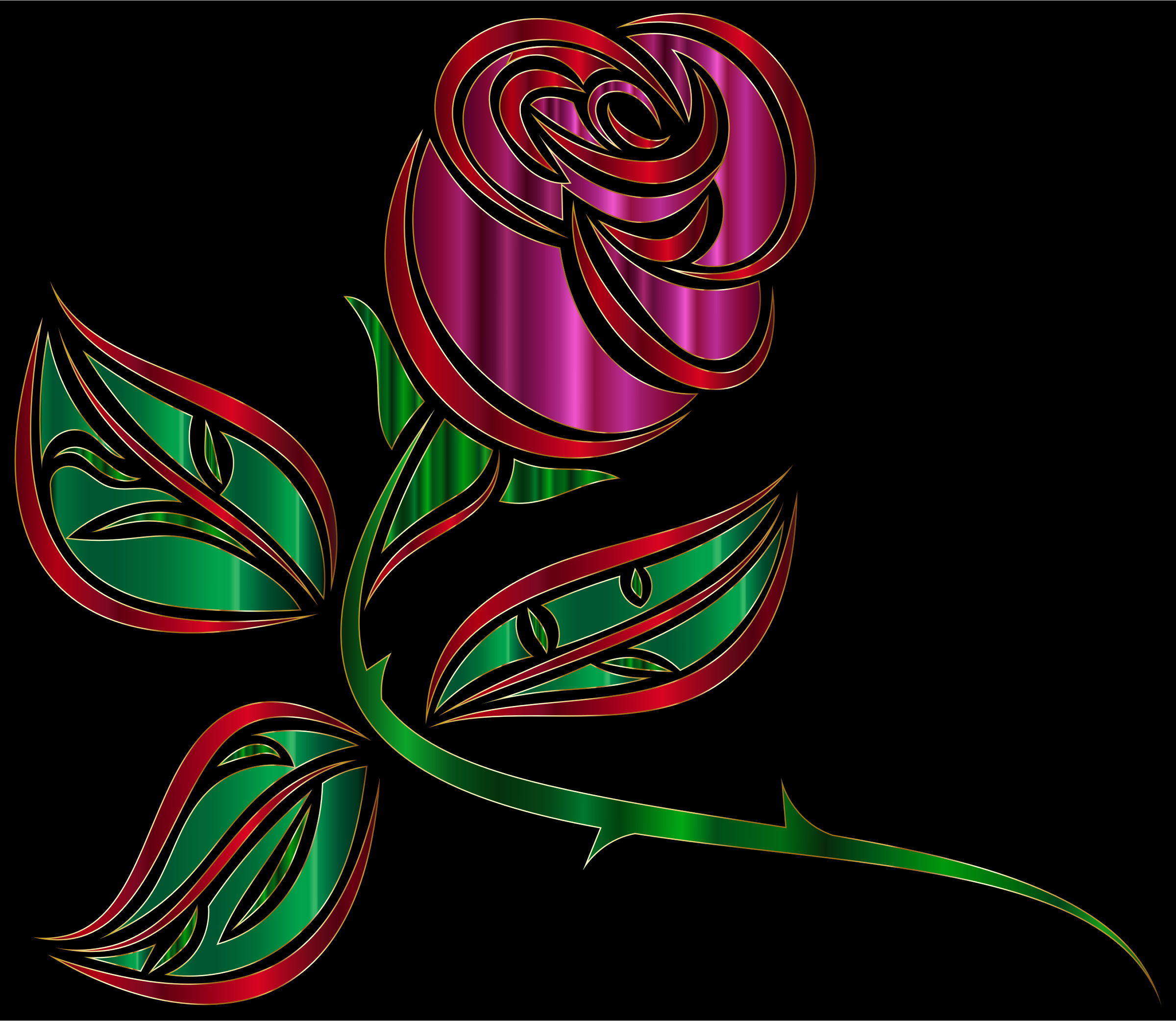 Stylized Rose Extended by GDJ