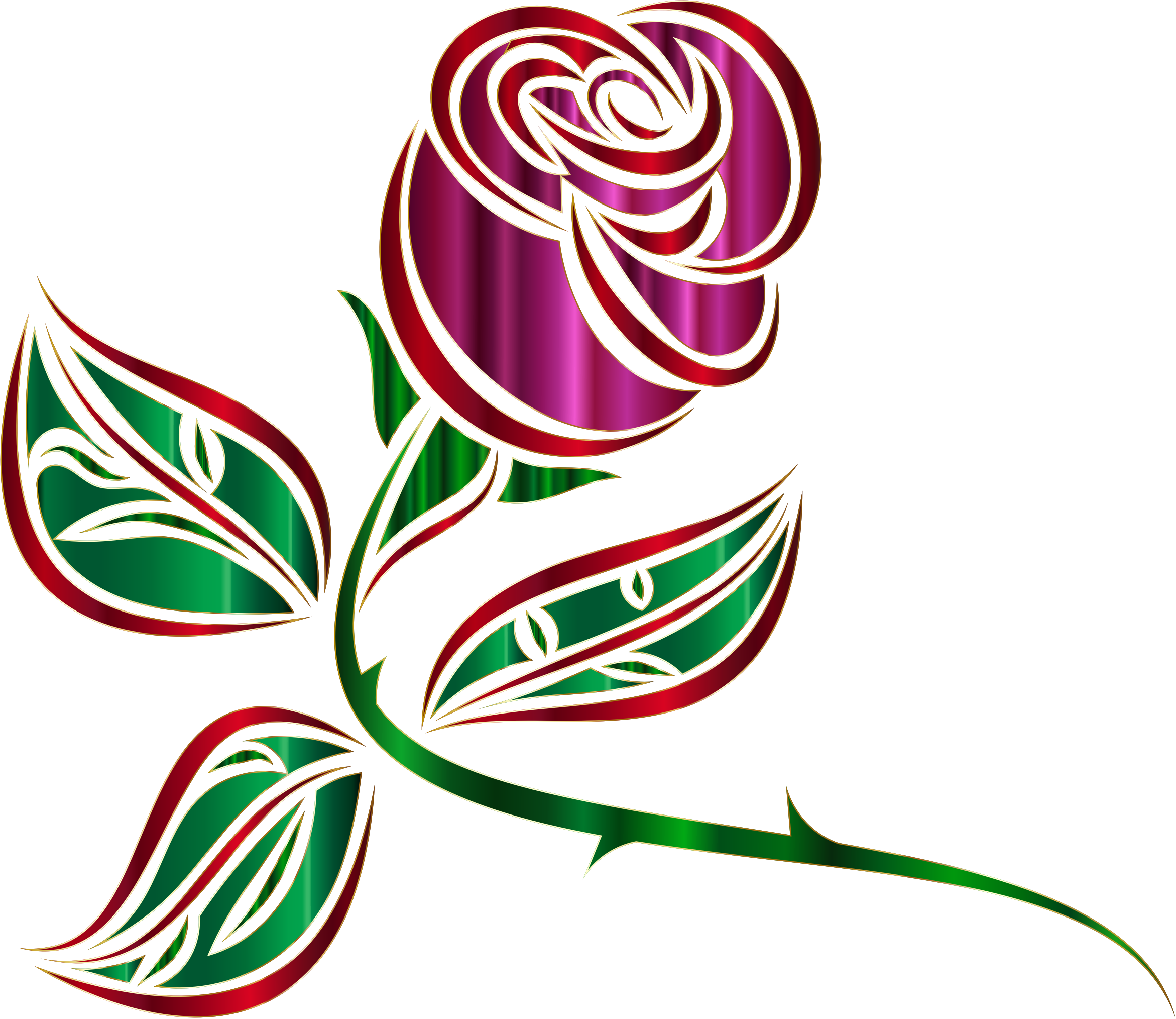 Stylized Rose Extended Minus Background by GDJ