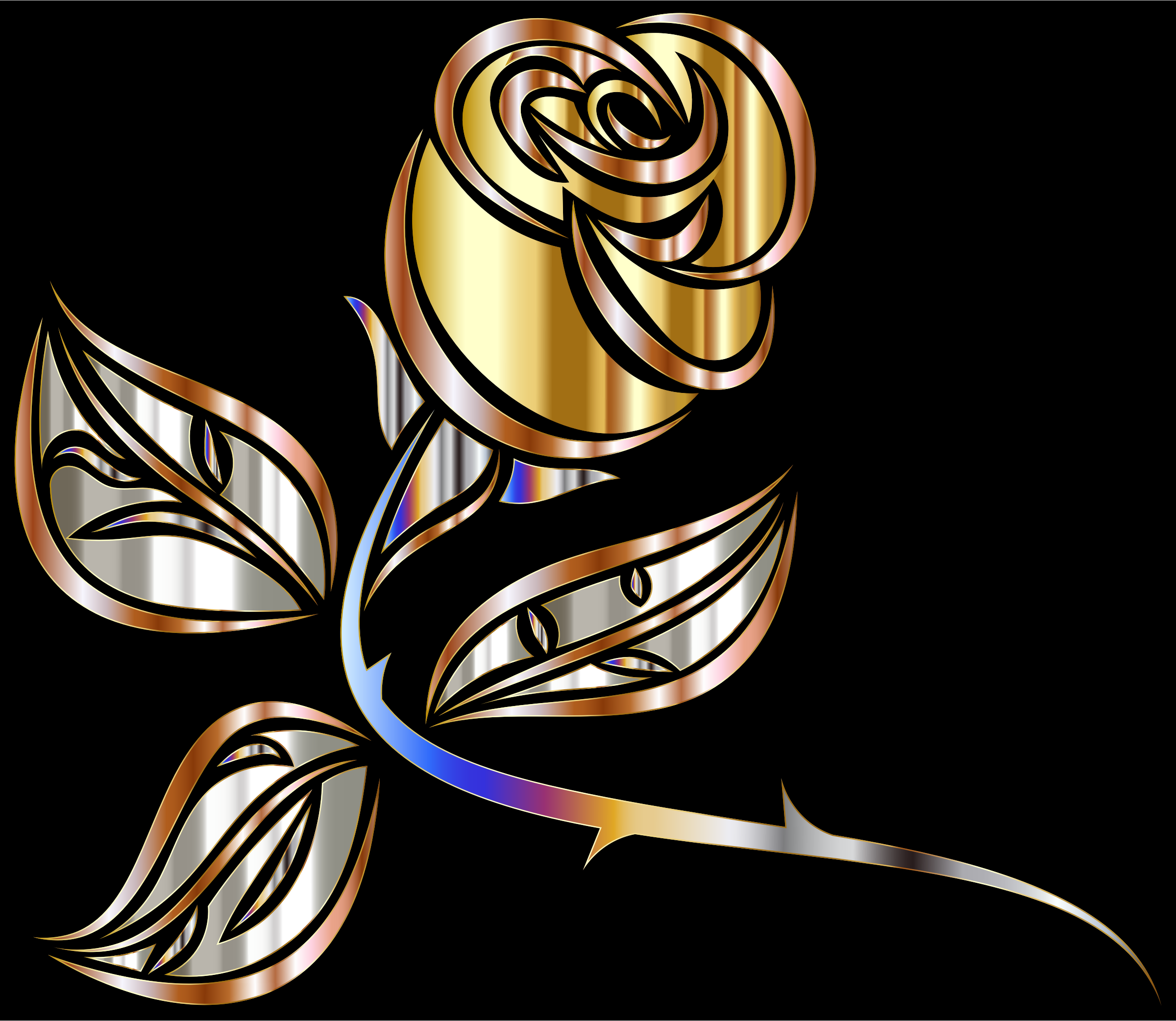 Stylized Rose Extended 2 by GDJ