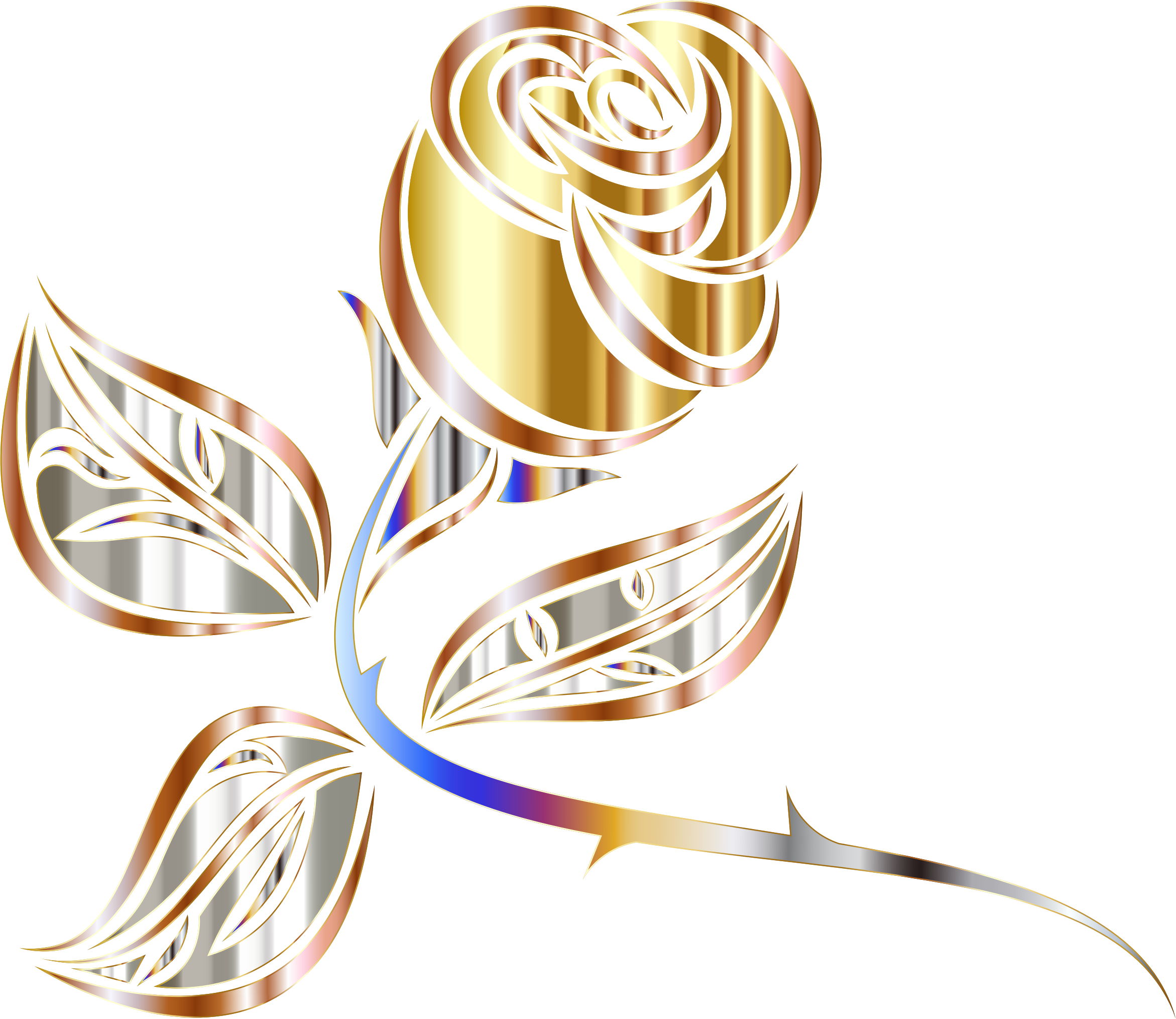 Stylized Rose Extended 2 Minus Background by GDJ