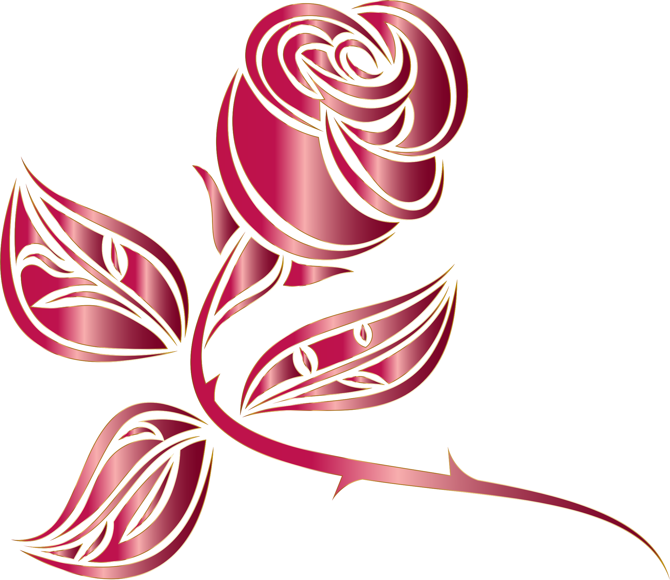 Stylized Rose Extended 4 Minus Background by GDJ