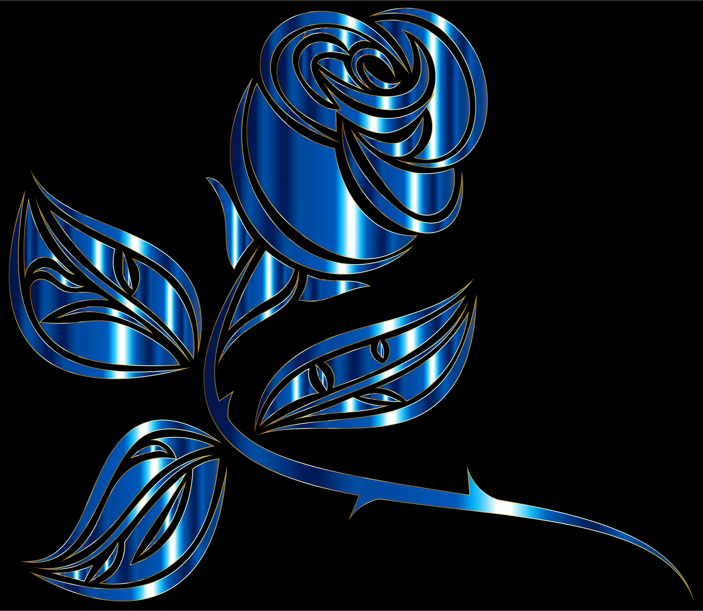 Stylized Rose Extended 5 by GDJ