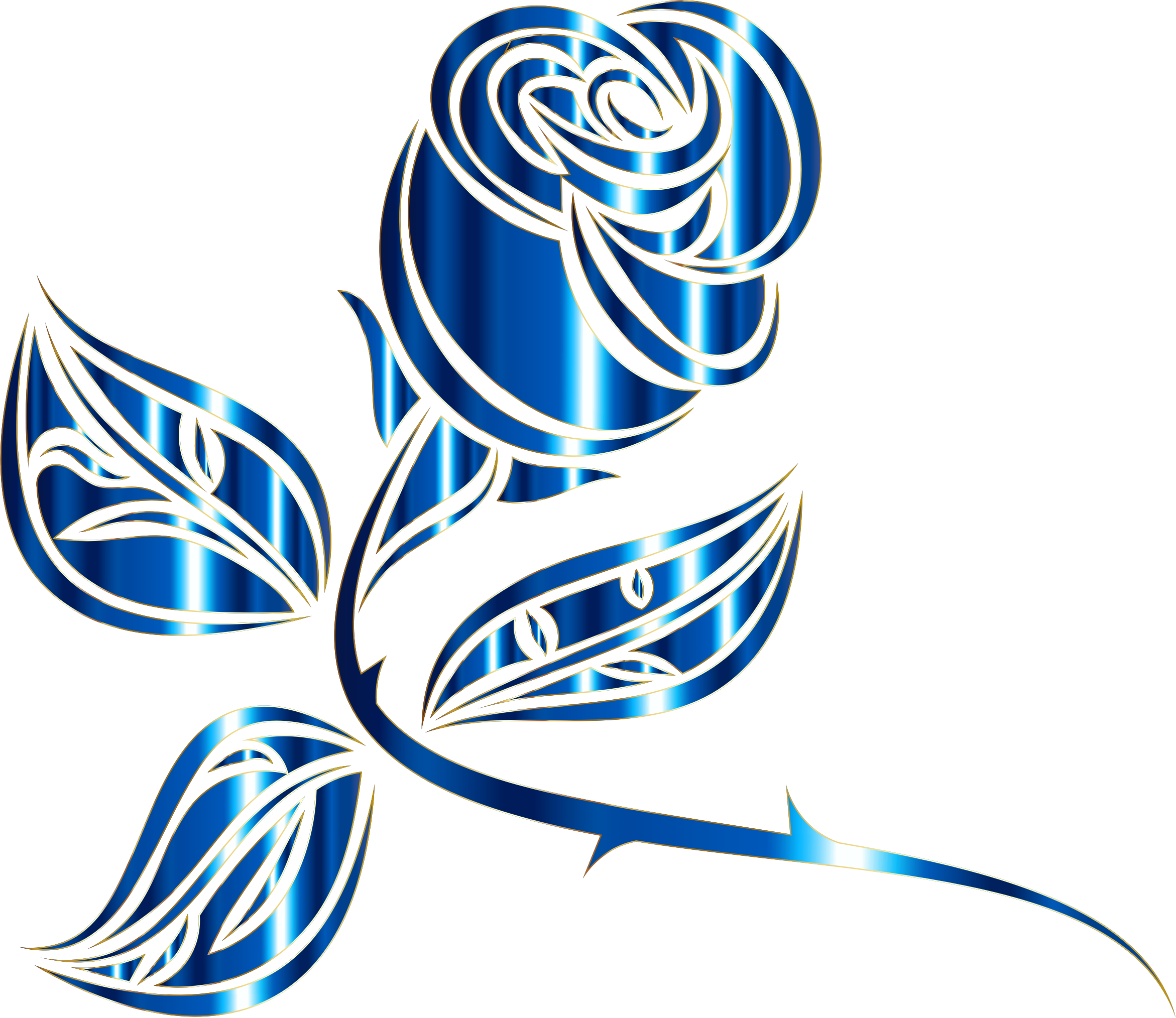Stylized Rose Extended 5 Minus Background by GDJ