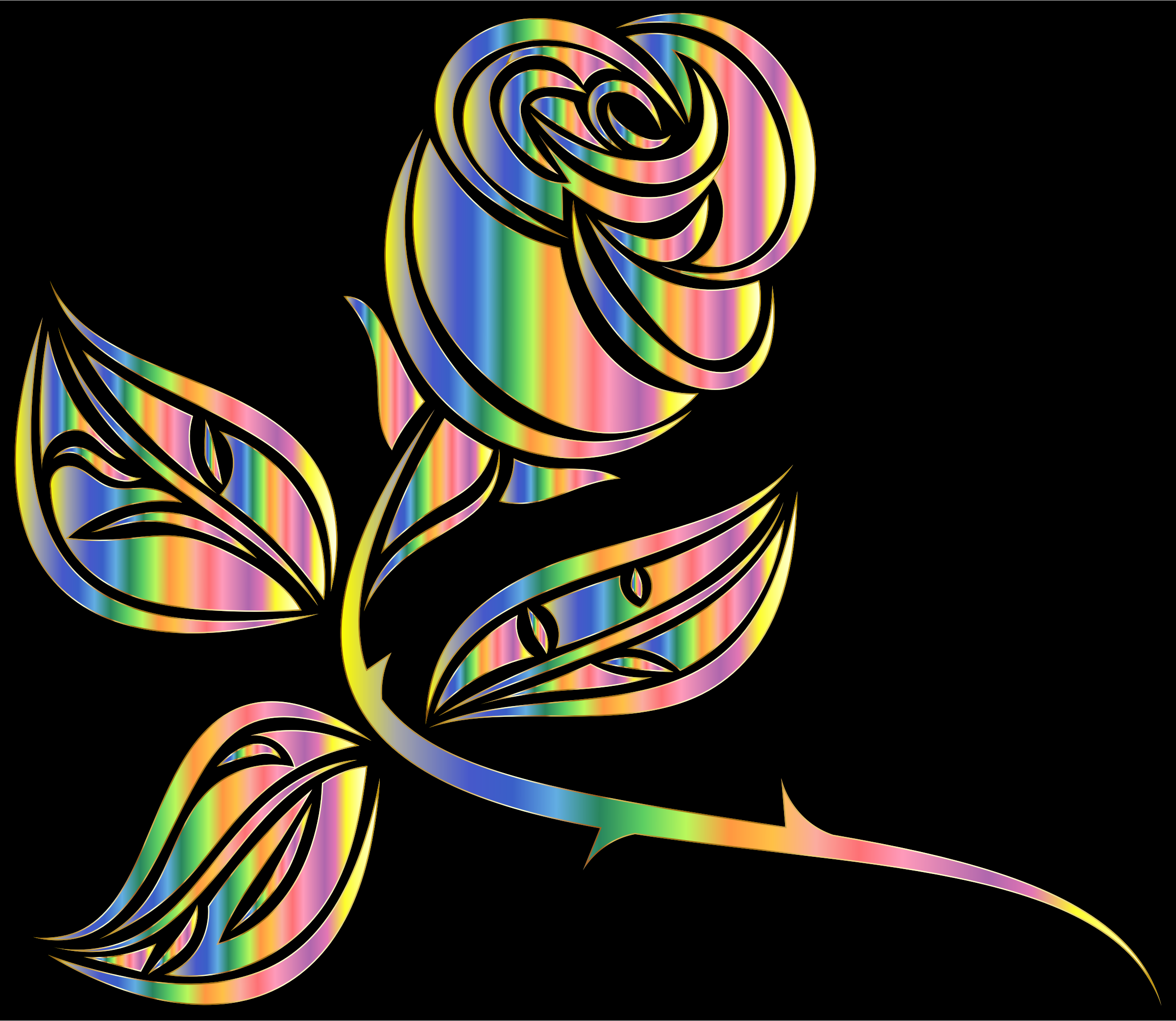 Stylized Rose Extended 6 by GDJ