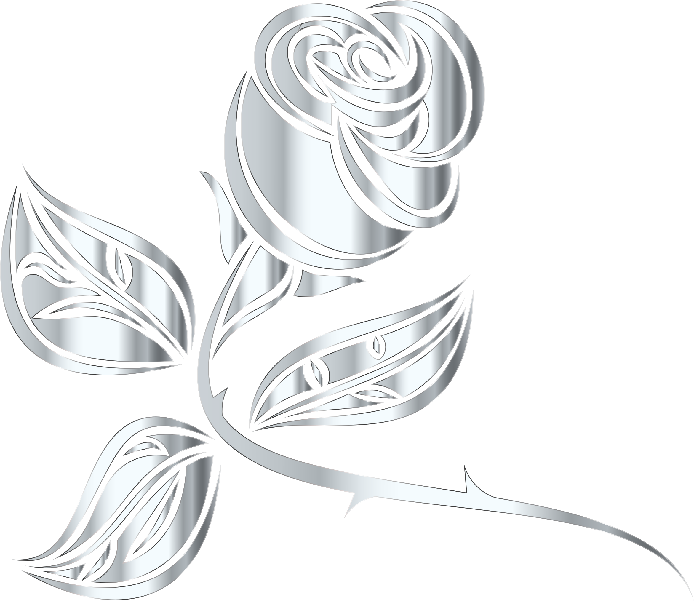 Stylized Rose Extended 7 Minus Background by GDJ