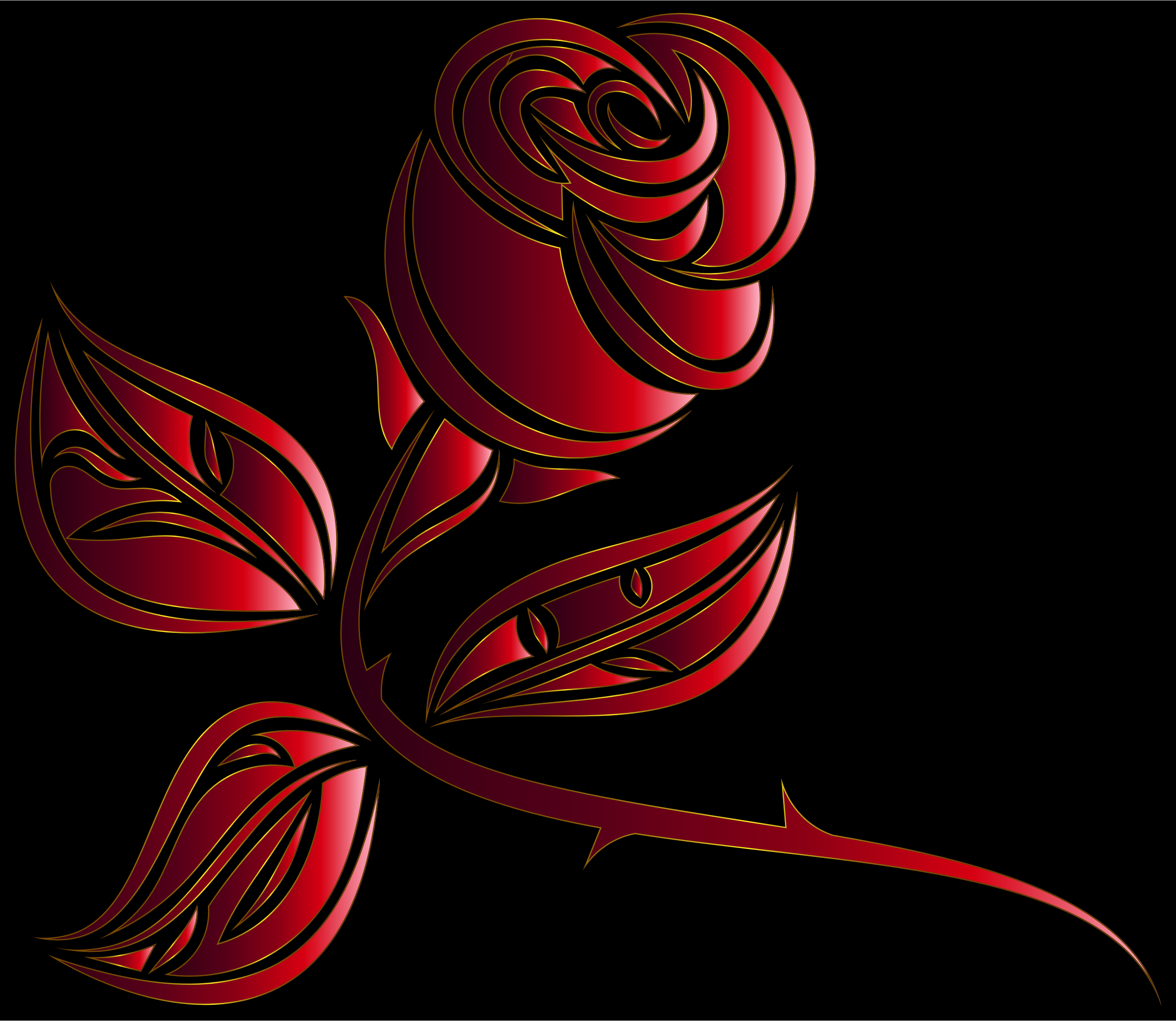 Stylized Rose Extended 8 by GDJ