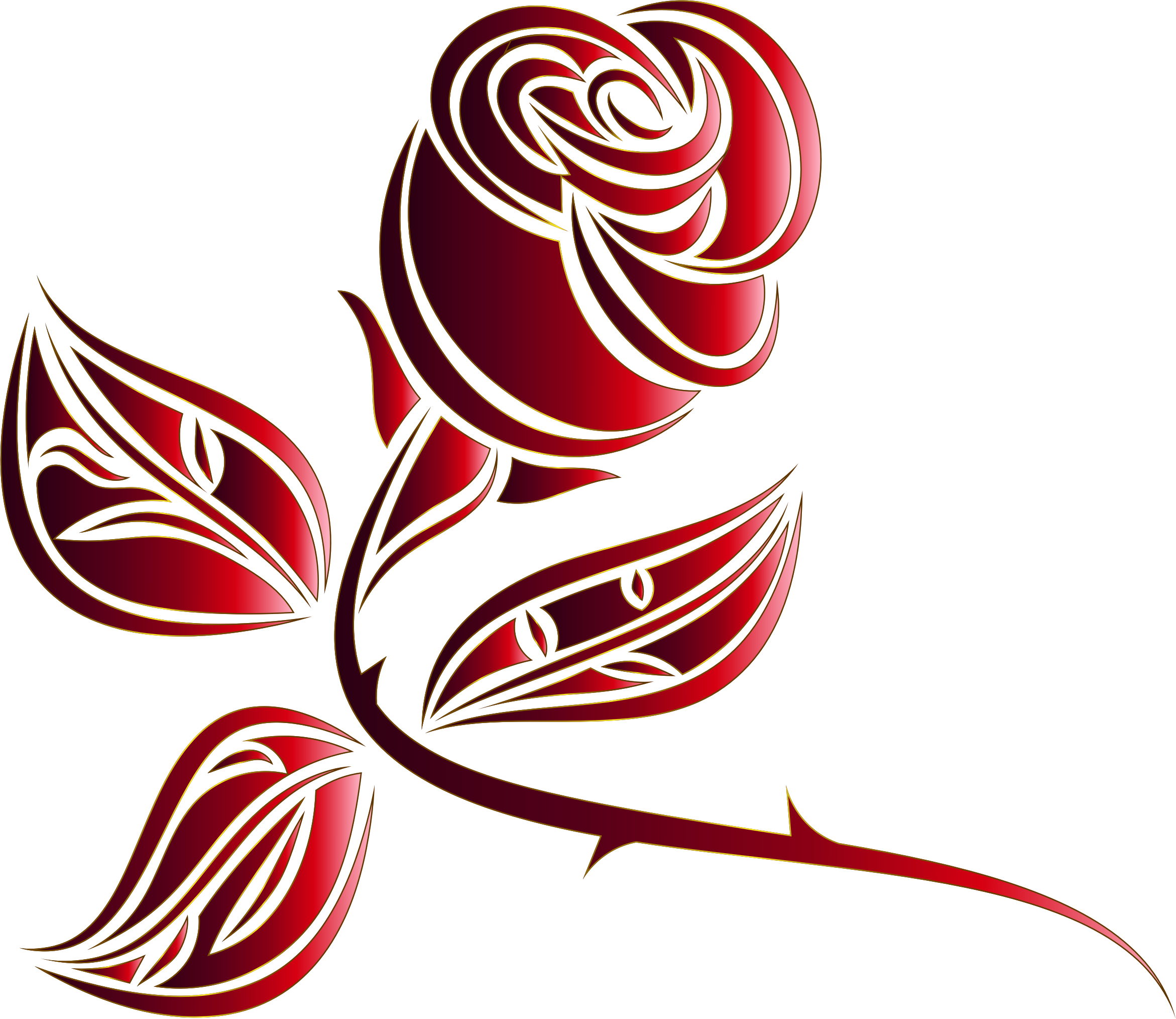 Stylized Rose Extended 8 Minus Background by GDJ