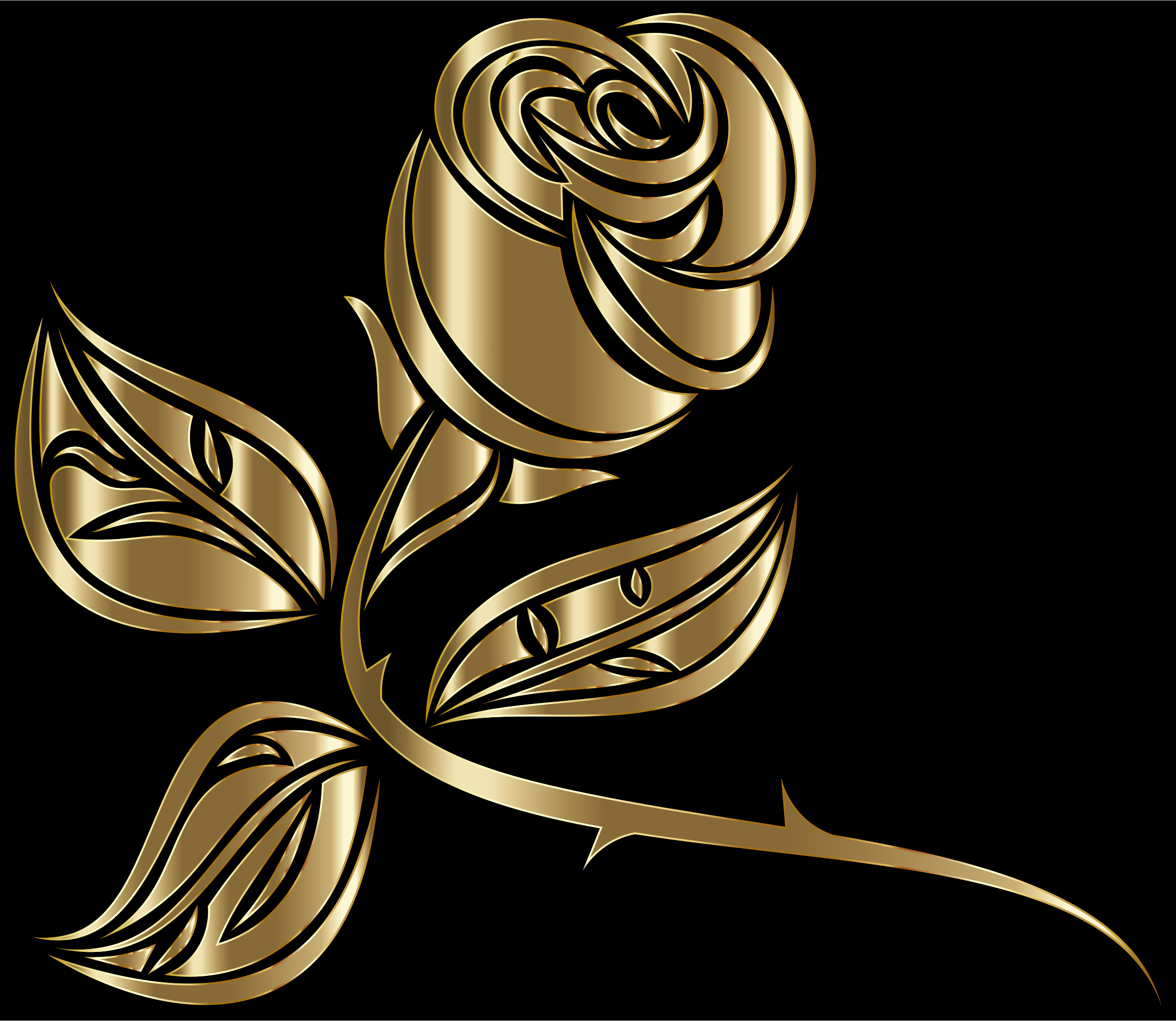 Stylized Rose Extended 9 by GDJ