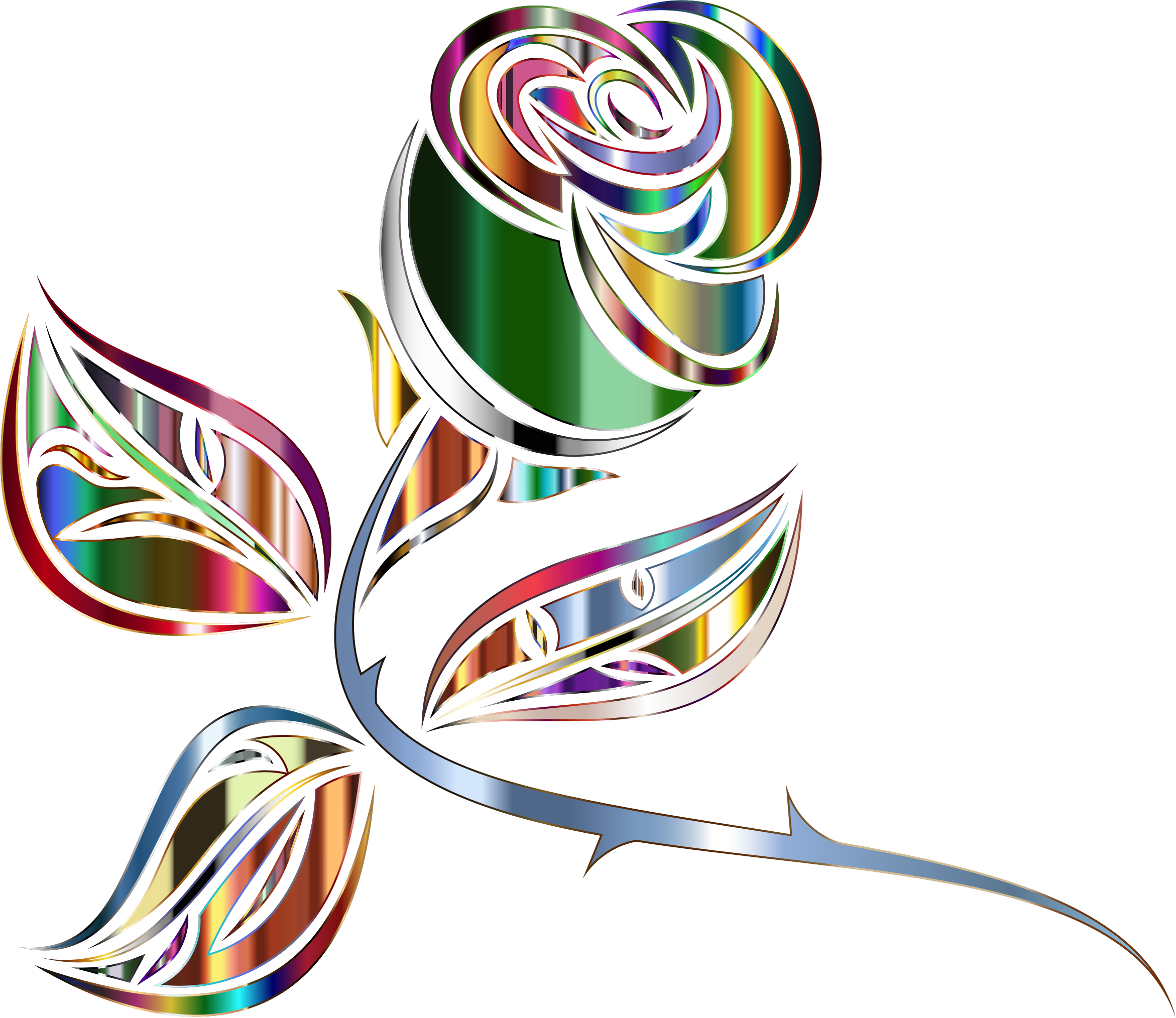 Stylized Rose Extended 10 Minus Background by GDJ