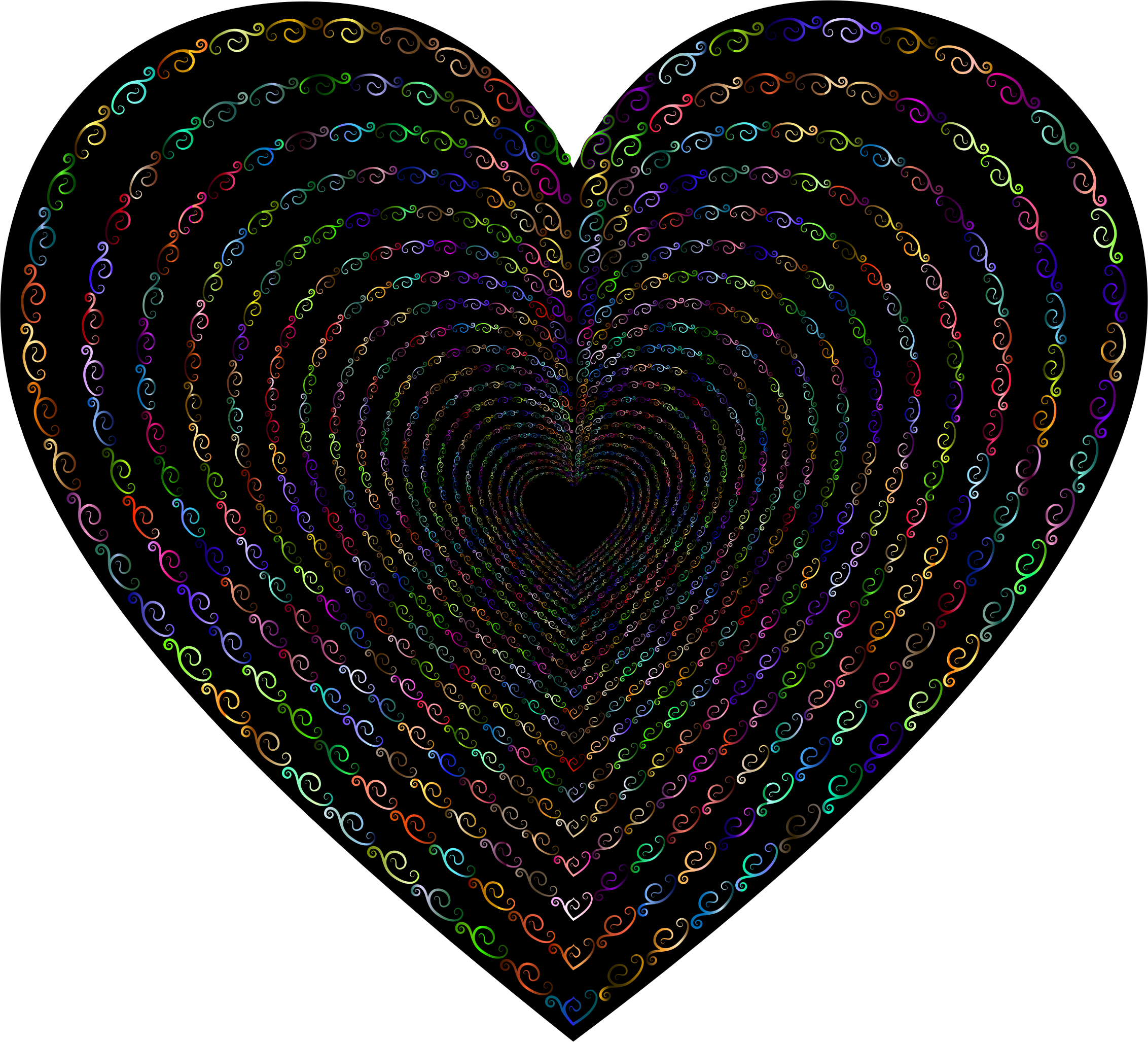 Prismatic Vintage Flourish Heart Tunnel 3 by GDJ